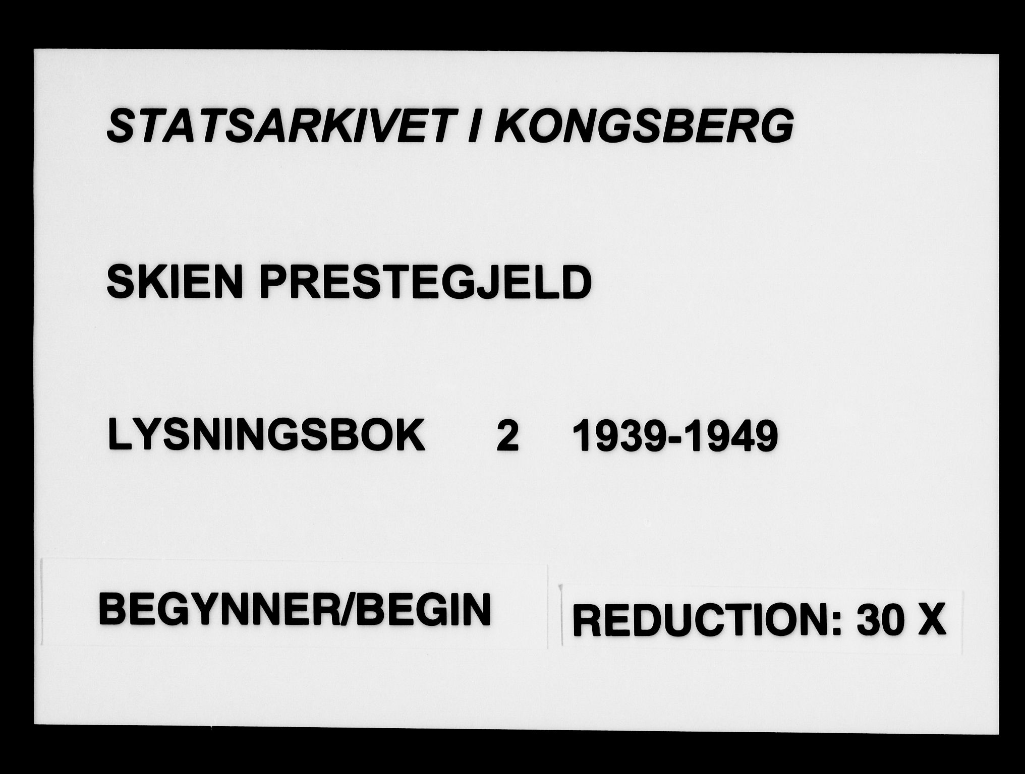 SAKO, Skien kirkebøker, H/Ha/L0002: Lysningsprotokoll nr. 2, 1939-1949