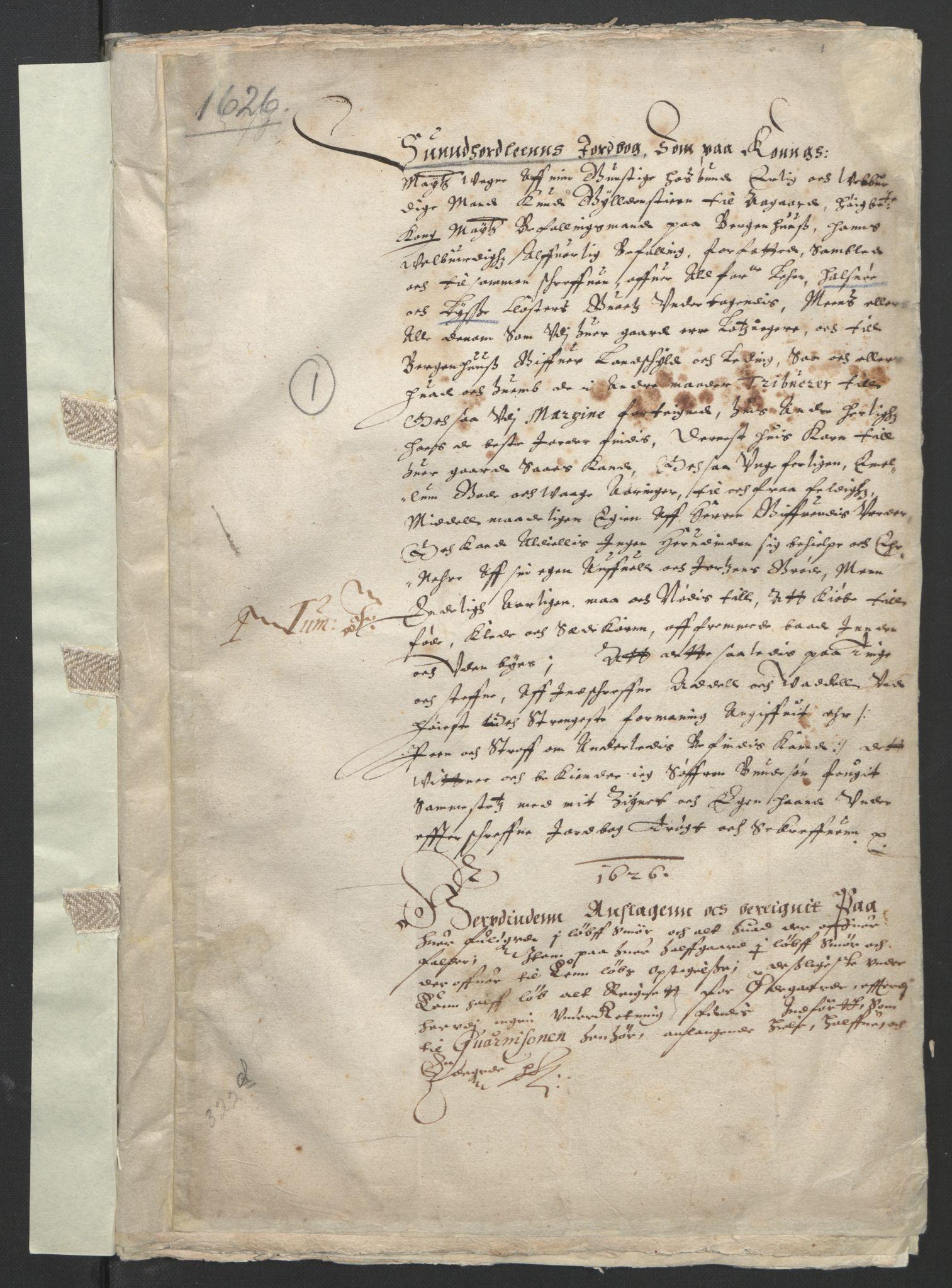 RA, Stattholderembetet 1572-1771, Ek/L0004: Jordebøker til utlikning av garnisonsskatt 1624-1626:, 1626, s. 3