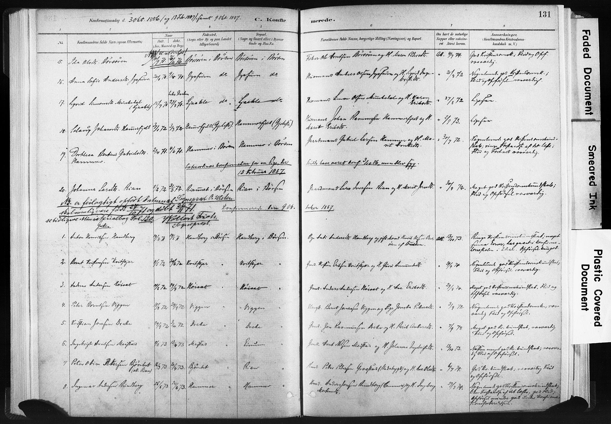 SAT, Ministerialprotokoller, klokkerbøker og fødselsregistre - Sør-Trøndelag, 665/L0773: Ministerialbok nr. 665A08, 1879-1905, s. 131