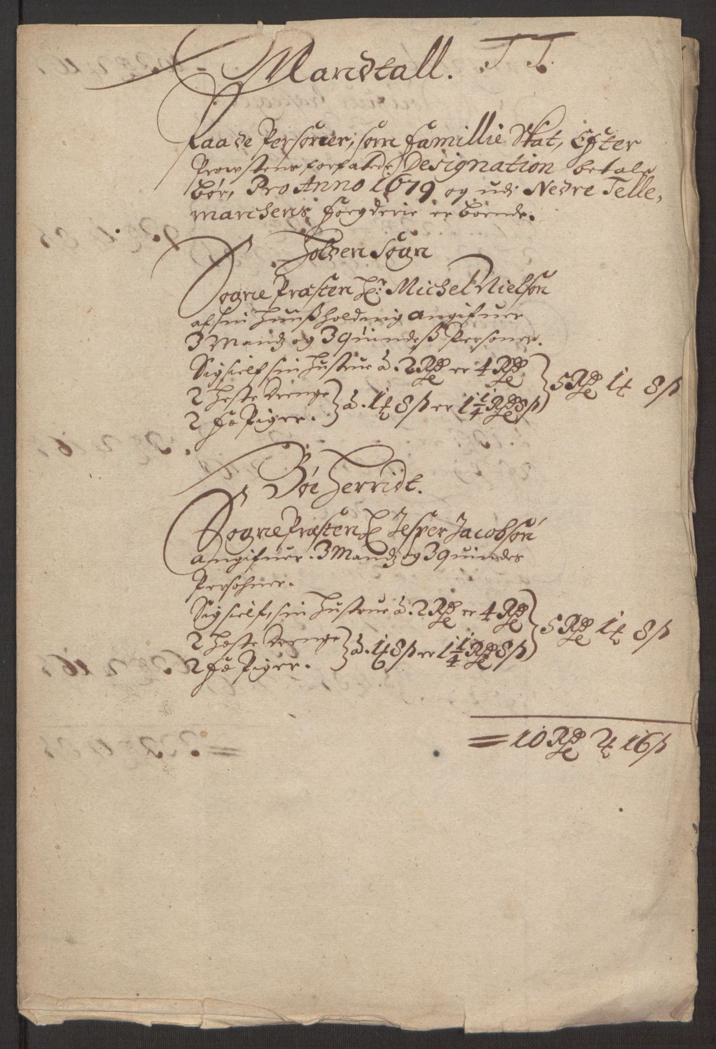 RA, Rentekammeret inntil 1814, Reviderte regnskaper, Fogderegnskap, R35/L2072: Fogderegnskap Øvre og Nedre Telemark, 1679, s. 243