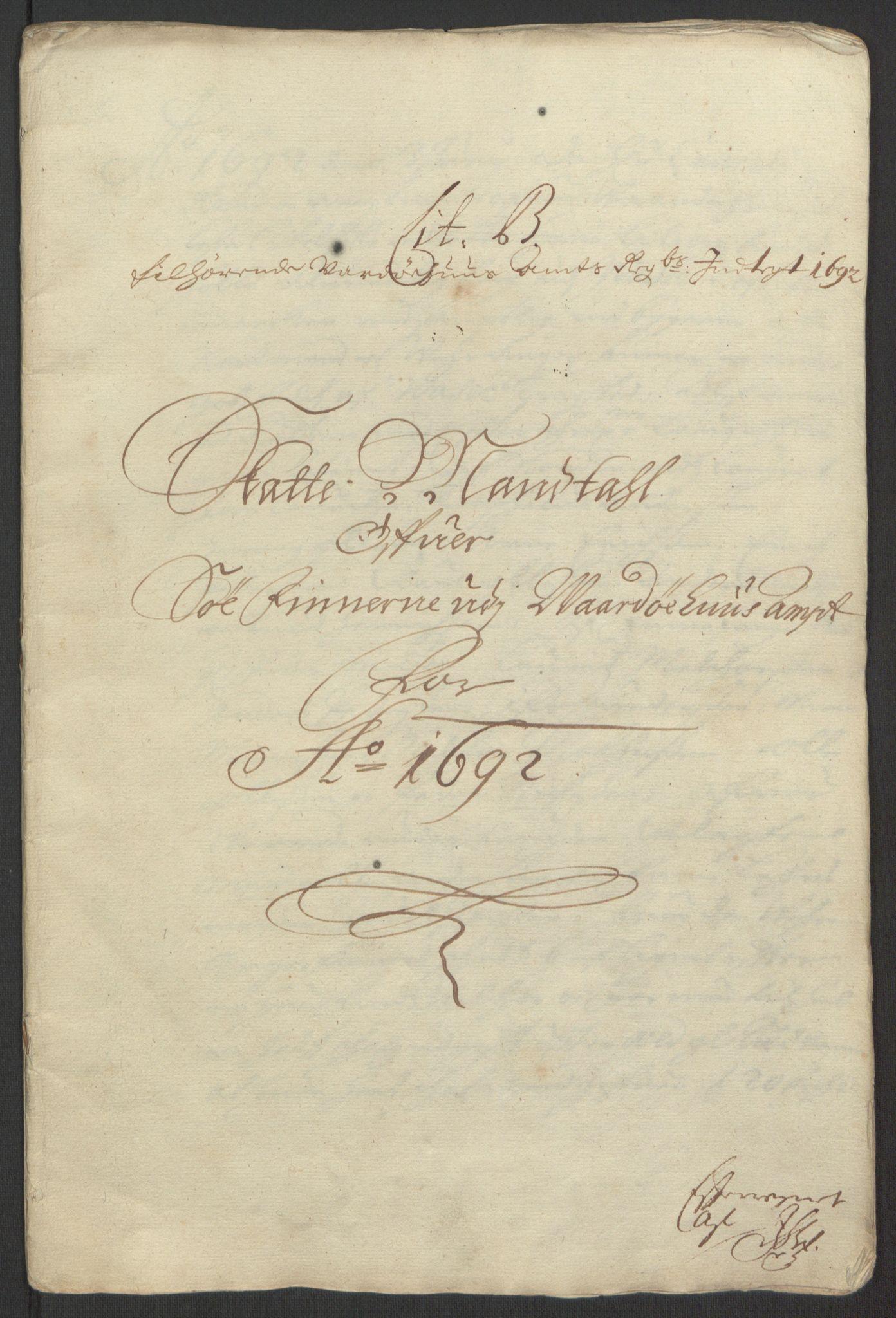 RA, Rentekammeret inntil 1814, Reviderte regnskaper, Fogderegnskap, R69/L4851: Fogderegnskap Finnmark/Vardøhus, 1691-1700, s. 145