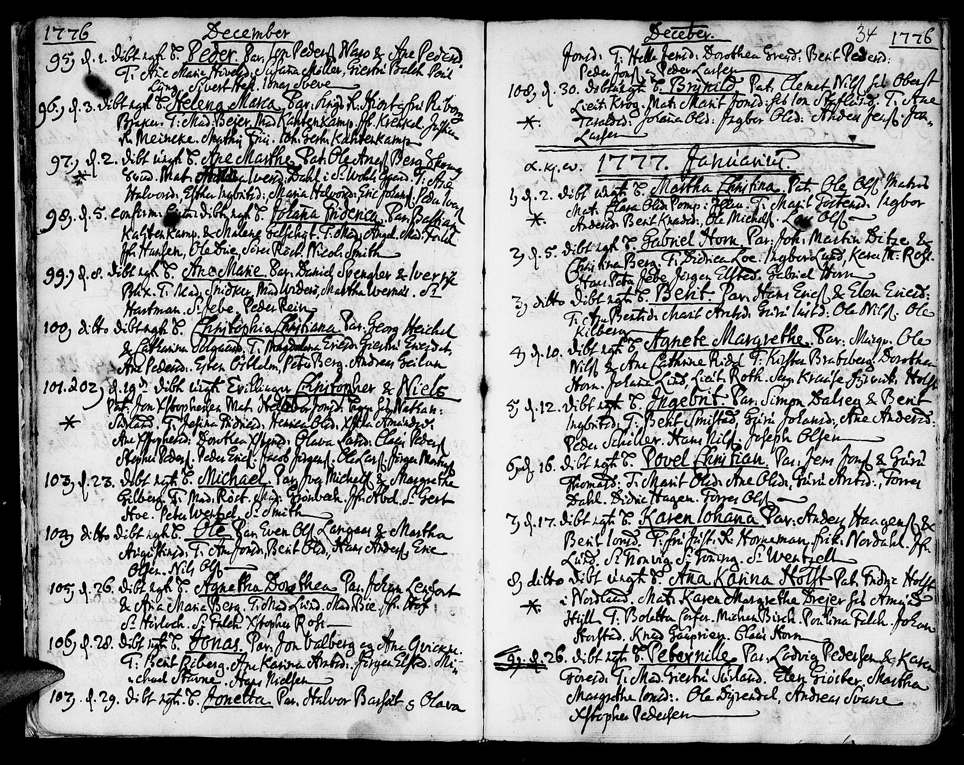 SAT, Ministerialprotokoller, klokkerbøker og fødselsregistre - Sør-Trøndelag, 601/L0039: Ministerialbok nr. 601A07, 1770-1819, s. 34
