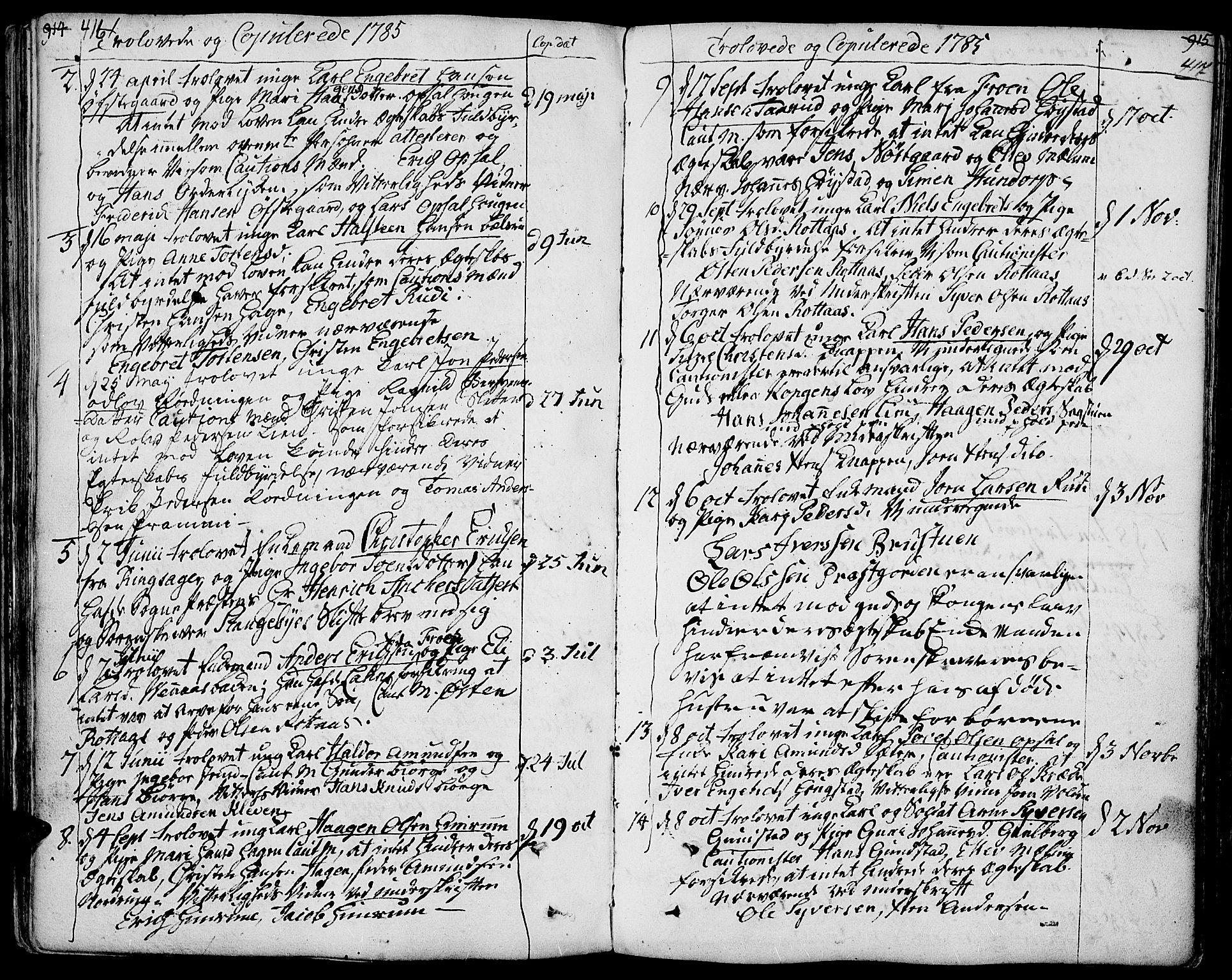 SAH, Ringebu prestekontor, Ministerialbok nr. 3, 1781-1820, s. 416-417