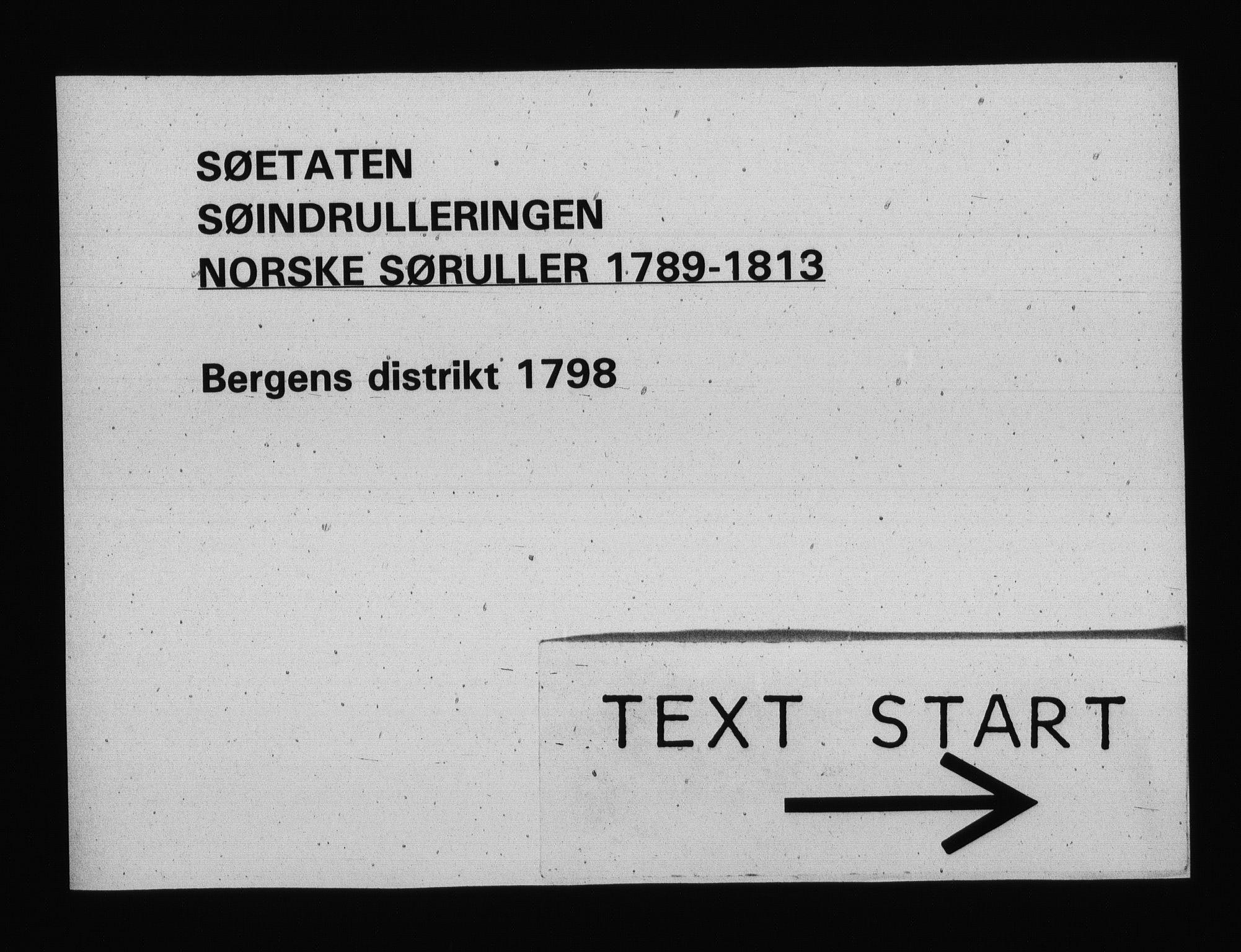 RA, Sjøetaten, F/L0227: Bergen distrikt, bind 1, 1798