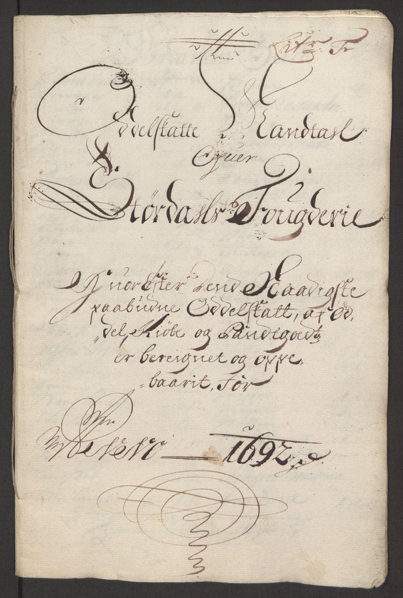 RA, Rentekammeret inntil 1814, Reviderte regnskaper, Fogderegnskap, R62/L4185: Fogderegnskap Stjørdal og Verdal, 1692, s. 102