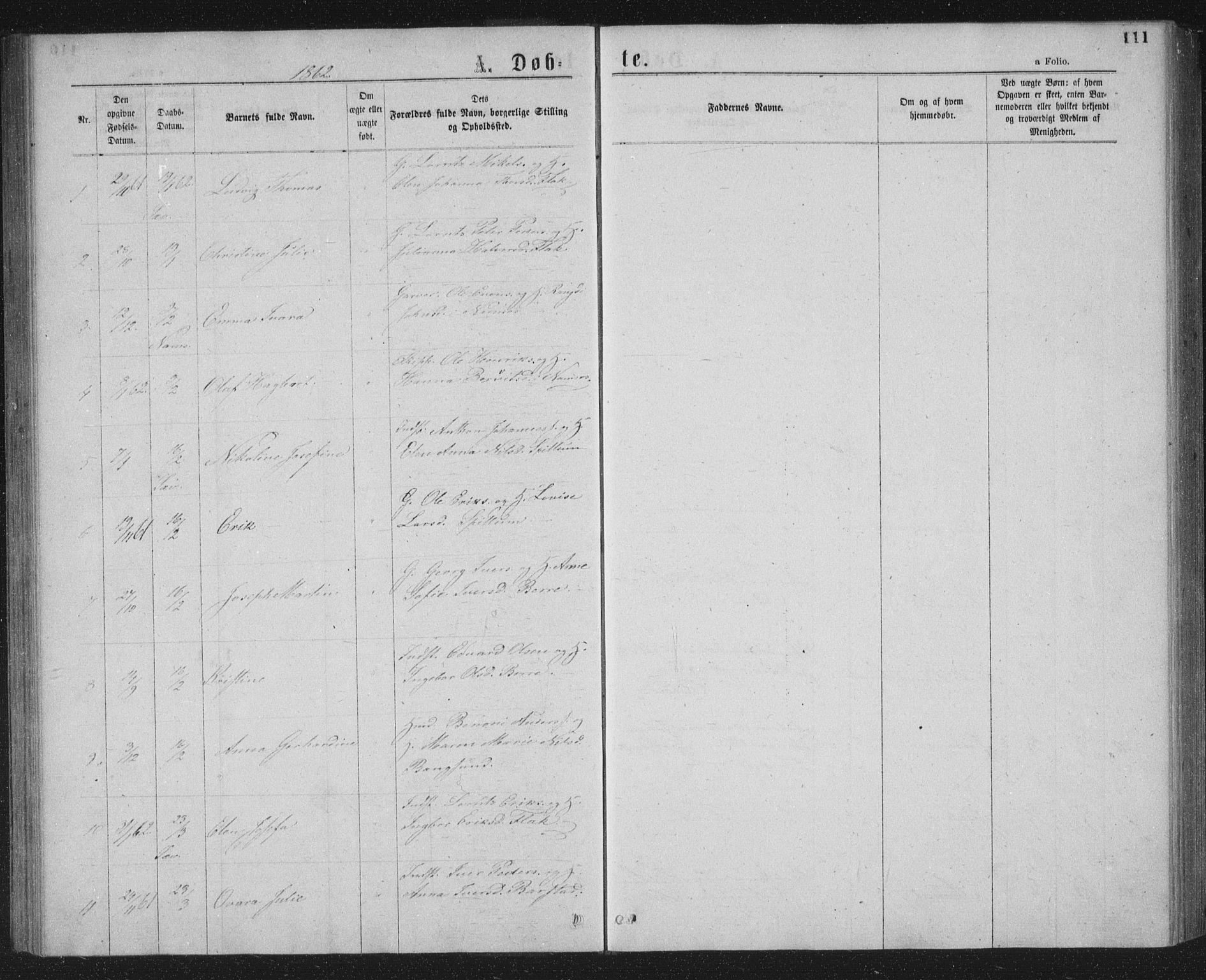 SAT, Ministerialprotokoller, klokkerbøker og fødselsregistre - Nord-Trøndelag, 768/L0566: Ministerialbok nr. 768A01, 1836-1865, s. 111