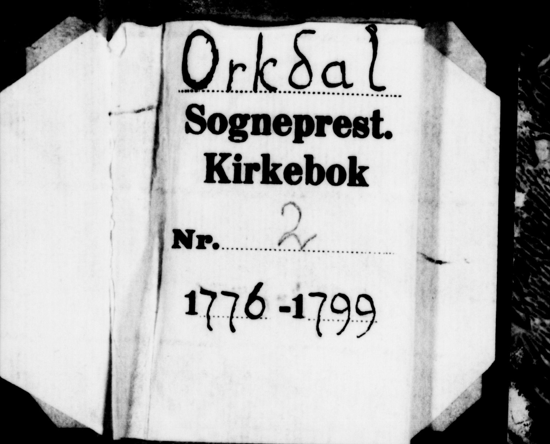 SAT, Ministerialprotokoller, klokkerbøker og fødselsregistre - Sør-Trøndelag, 668/L0802: Ministerialbok nr. 668A02, 1776-1799