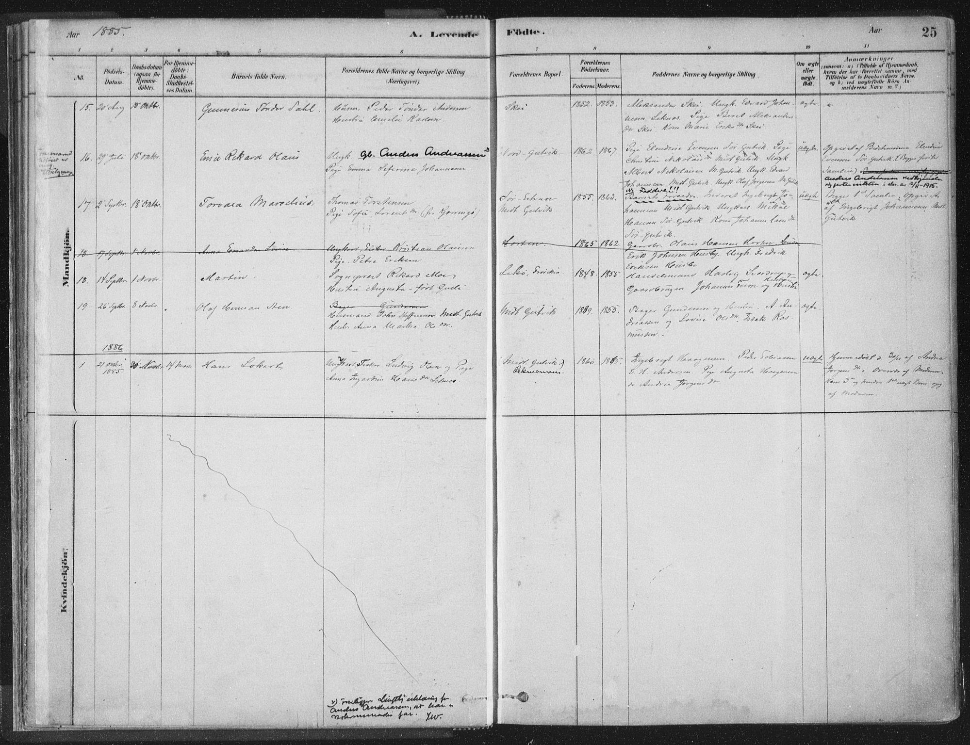 SAT, Ministerialprotokoller, klokkerbøker og fødselsregistre - Nord-Trøndelag, 788/L0697: Ministerialbok nr. 788A04, 1878-1902, s. 25