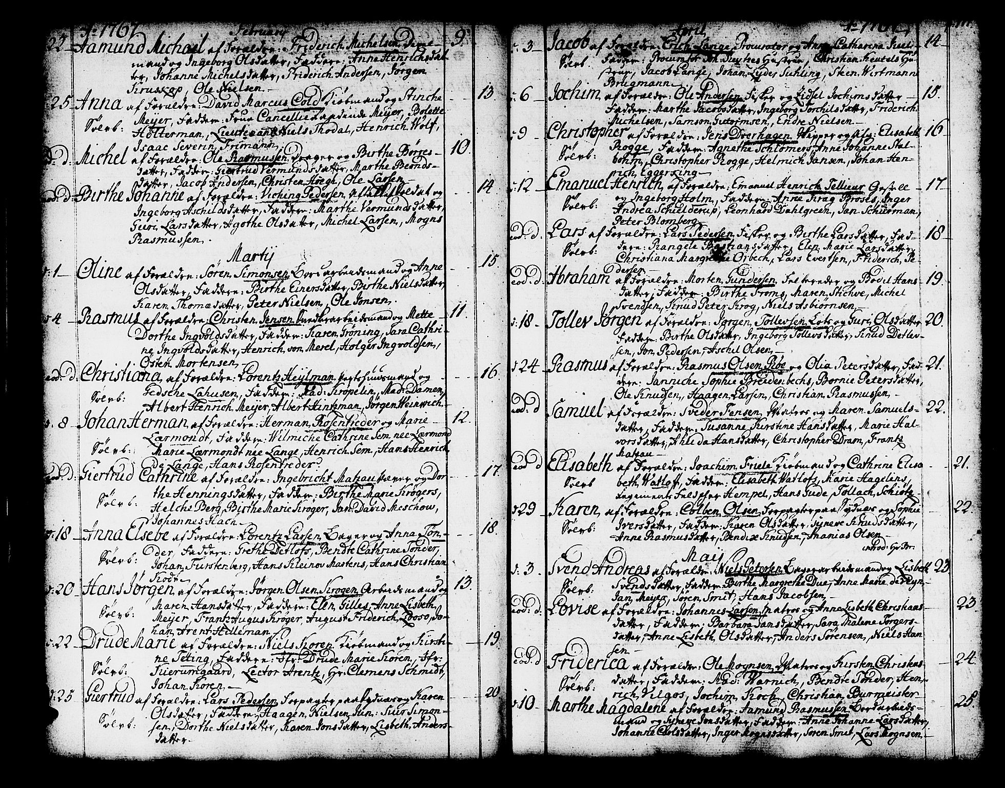 SAB, Domkirken Sokneprestembete, H/Haa/L0003: Ministerialbok nr. A 3, 1758-1789, s. 110-111