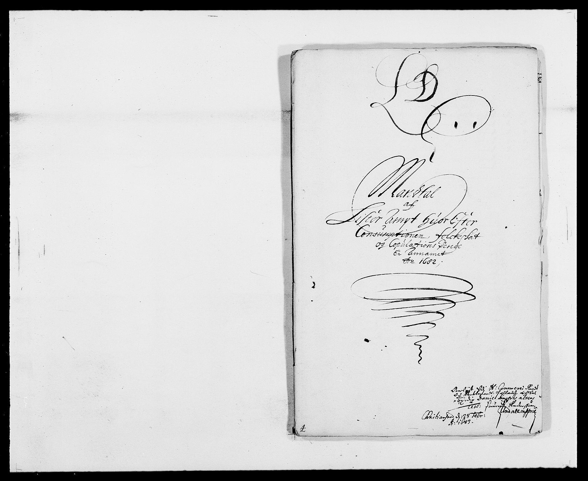 RA, Rentekammeret inntil 1814, Reviderte regnskaper, Fogderegnskap, R41/L2531: Fogderegnskap Lista, 1680-1682, s. 207
