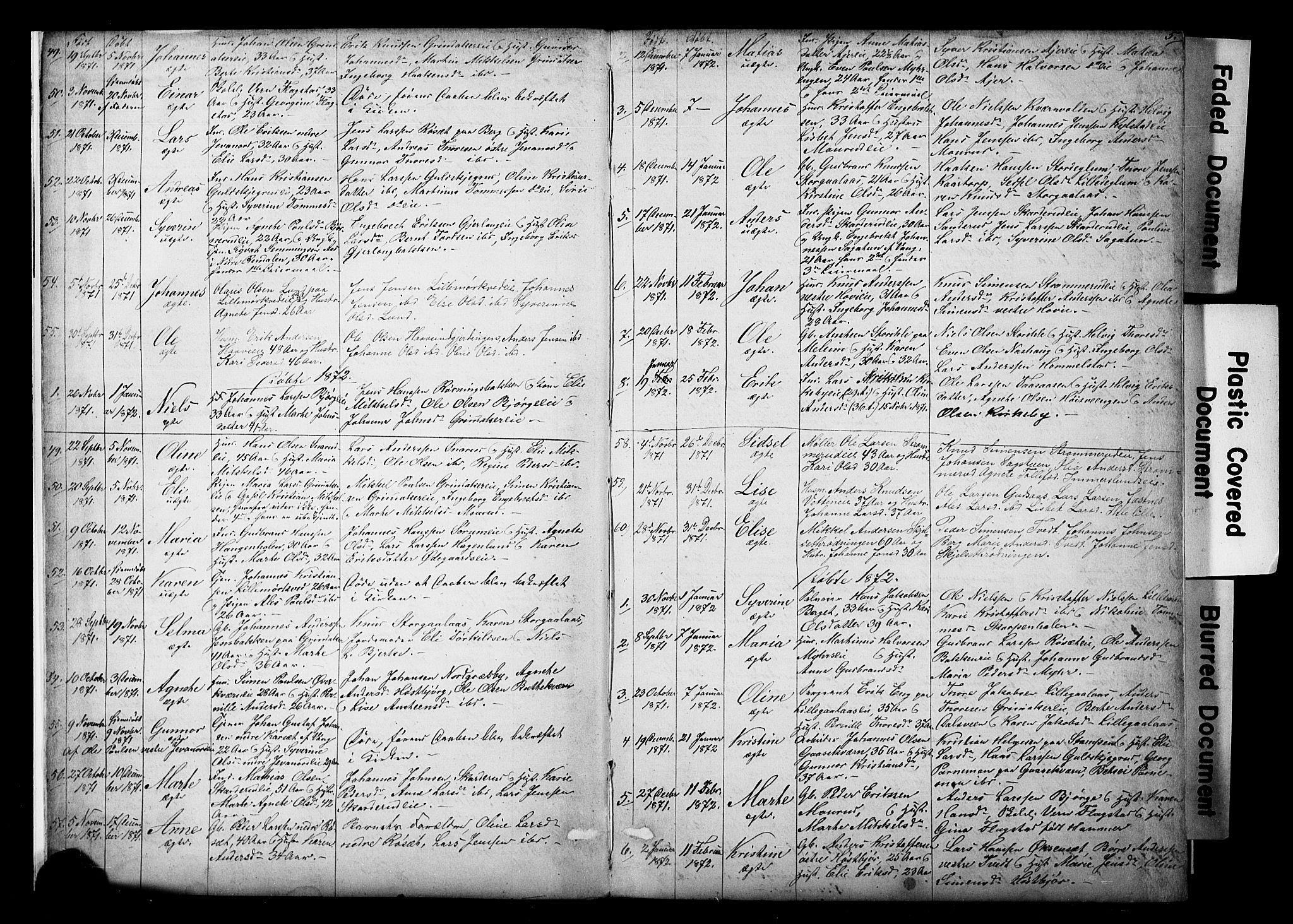SAH, Vang prestekontor, Hedmark, H/Ha/Hab/L0018: Klokkerbok nr. 18, 1871-1903, s. 5