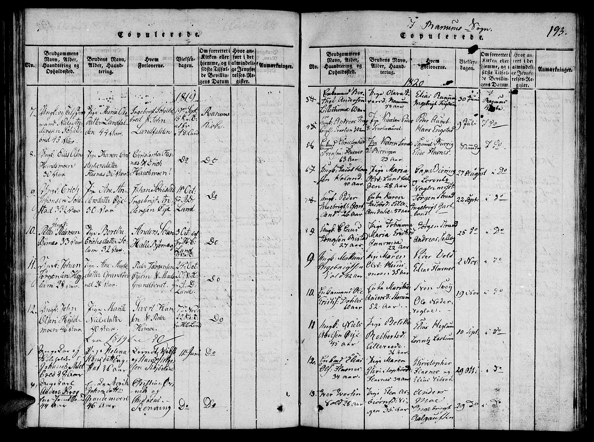 SAT, Ministerialprotokoller, klokkerbøker og fødselsregistre - Nord-Trøndelag, 764/L0546: Ministerialbok nr. 764A06 /1, 1816-1823, s. 193
