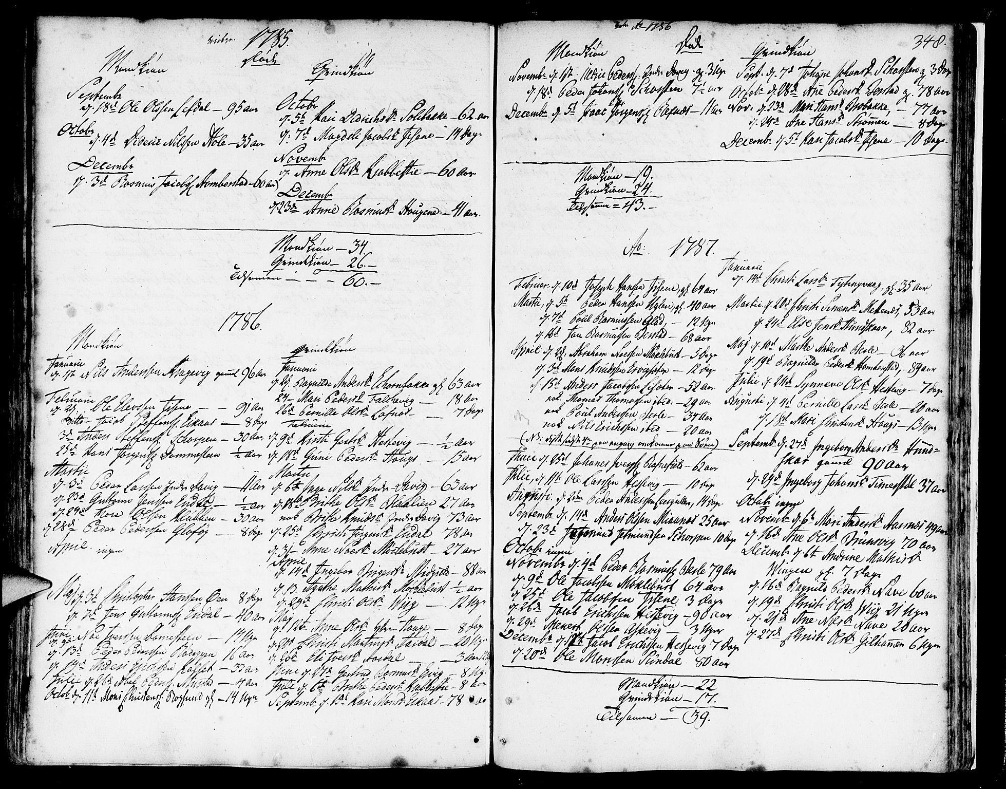 SAB, Davik Sokneprestembete, Ministerialbok nr. A 2, 1742-1816, s. 348