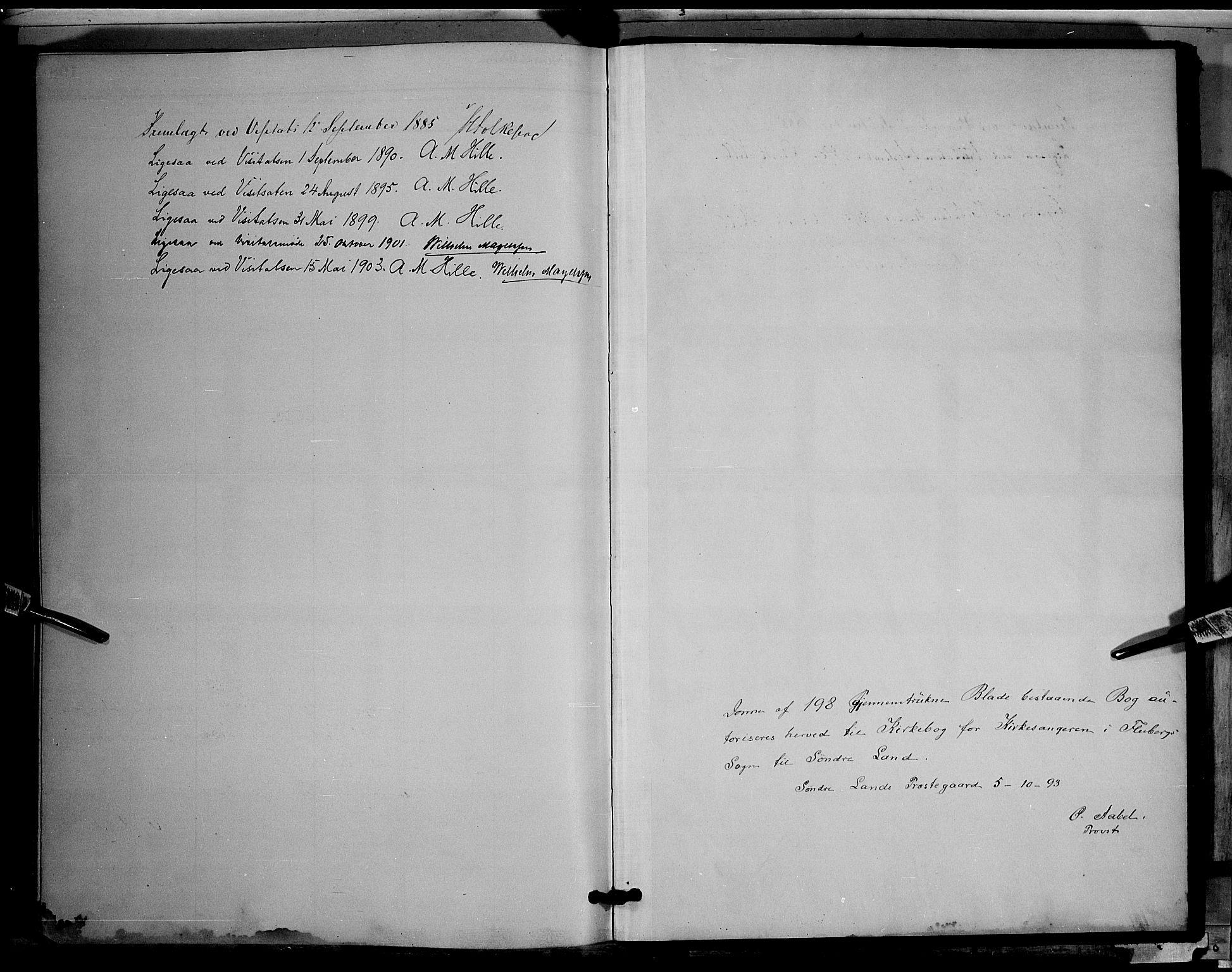 SAH, Søndre Land prestekontor, L/L0003: Klokkerbok nr. 3, 1884-1902