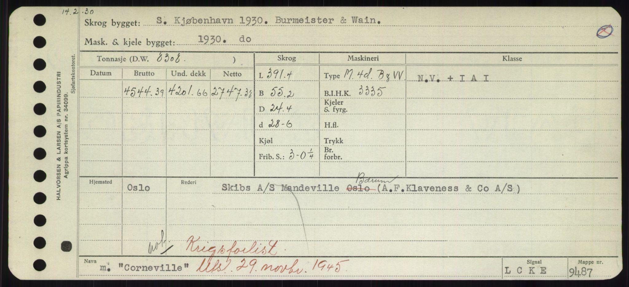 RA, Sjøfartsdirektoratet med forløpere, Skipsmålingen, H/Hd/L0008: Fartøy, C-D, s. 231