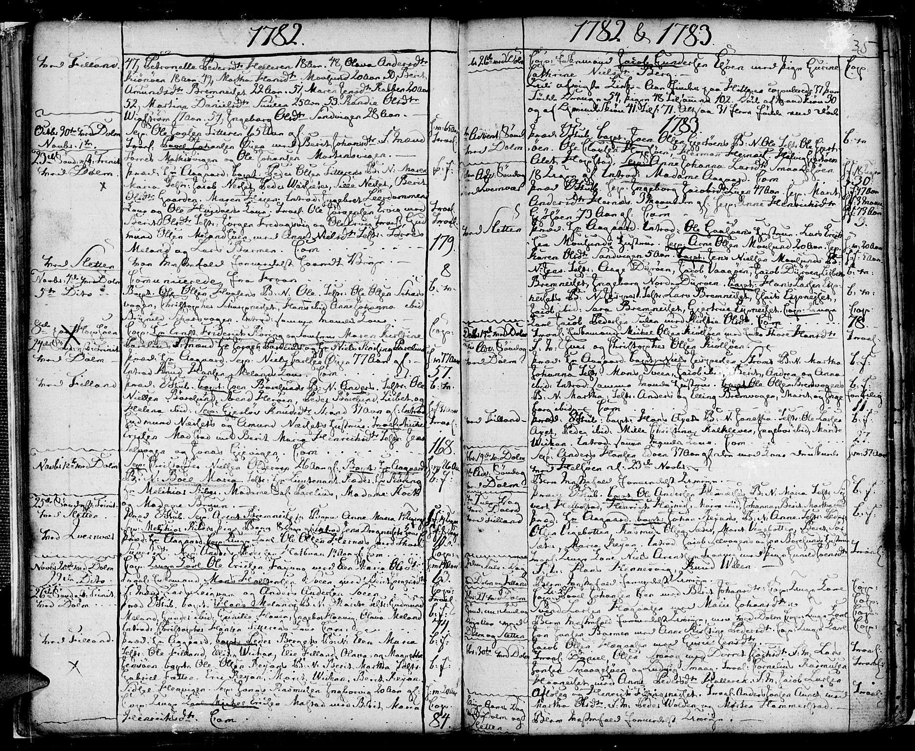 SAT, Ministerialprotokoller, klokkerbøker og fødselsregistre - Sør-Trøndelag, 634/L0526: Ministerialbok nr. 634A02, 1775-1818, s. 35
