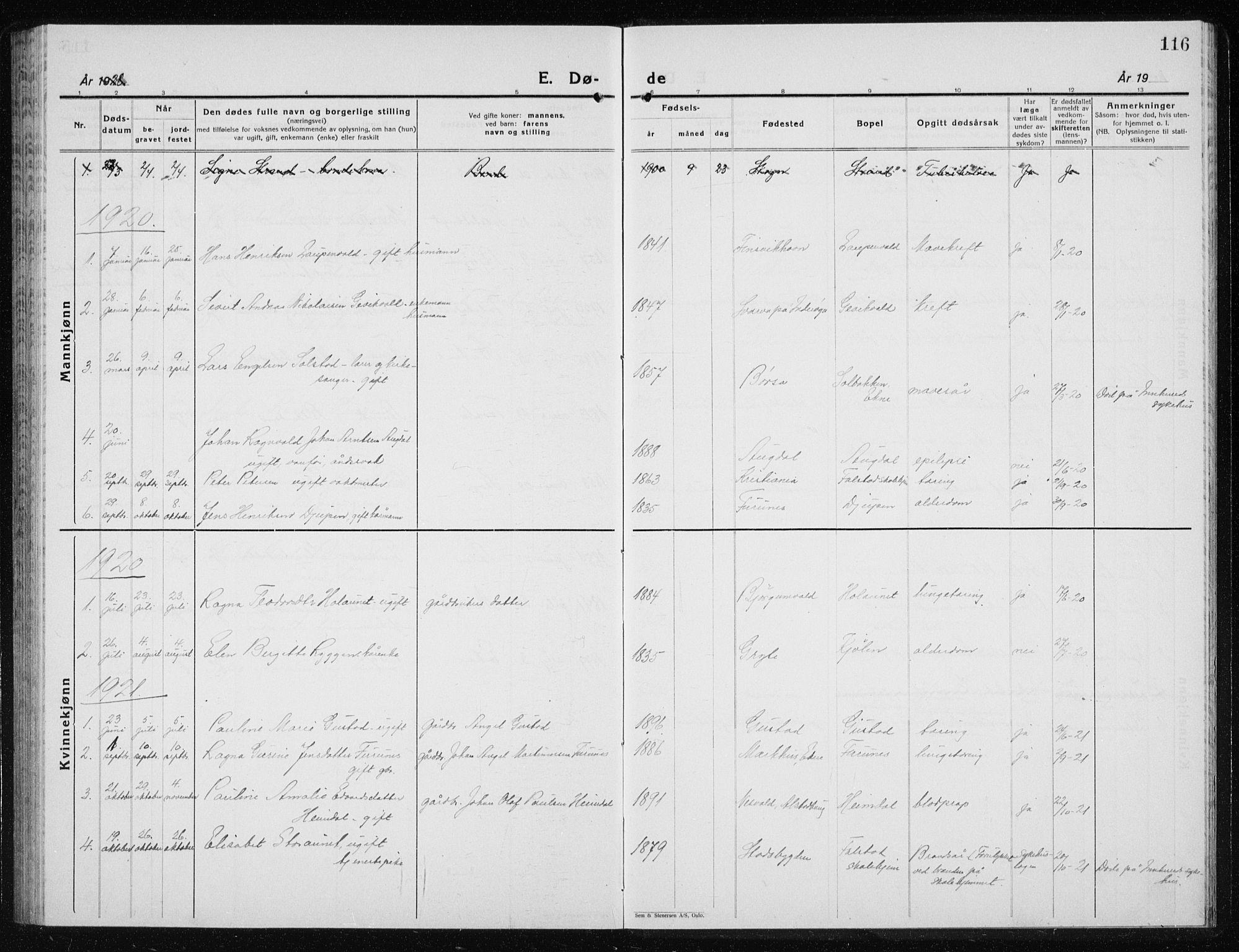 SAT, Ministerialprotokoller, klokkerbøker og fødselsregistre - Nord-Trøndelag, 719/L0180: Klokkerbok nr. 719C01, 1878-1940, s. 116