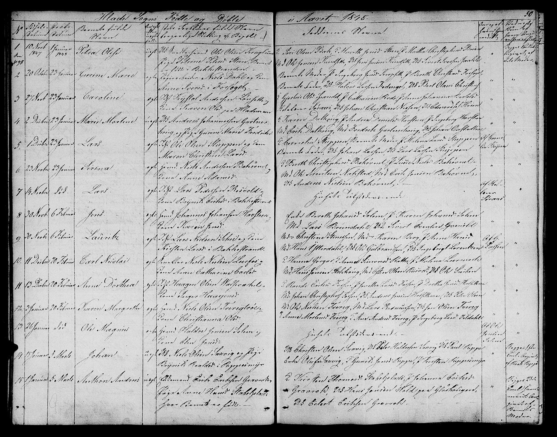 SAT, Ministerialprotokoller, klokkerbøker og fødselsregistre - Sør-Trøndelag, 606/L0309: Klokkerbok nr. 606C05, 1841-1849, s. 50