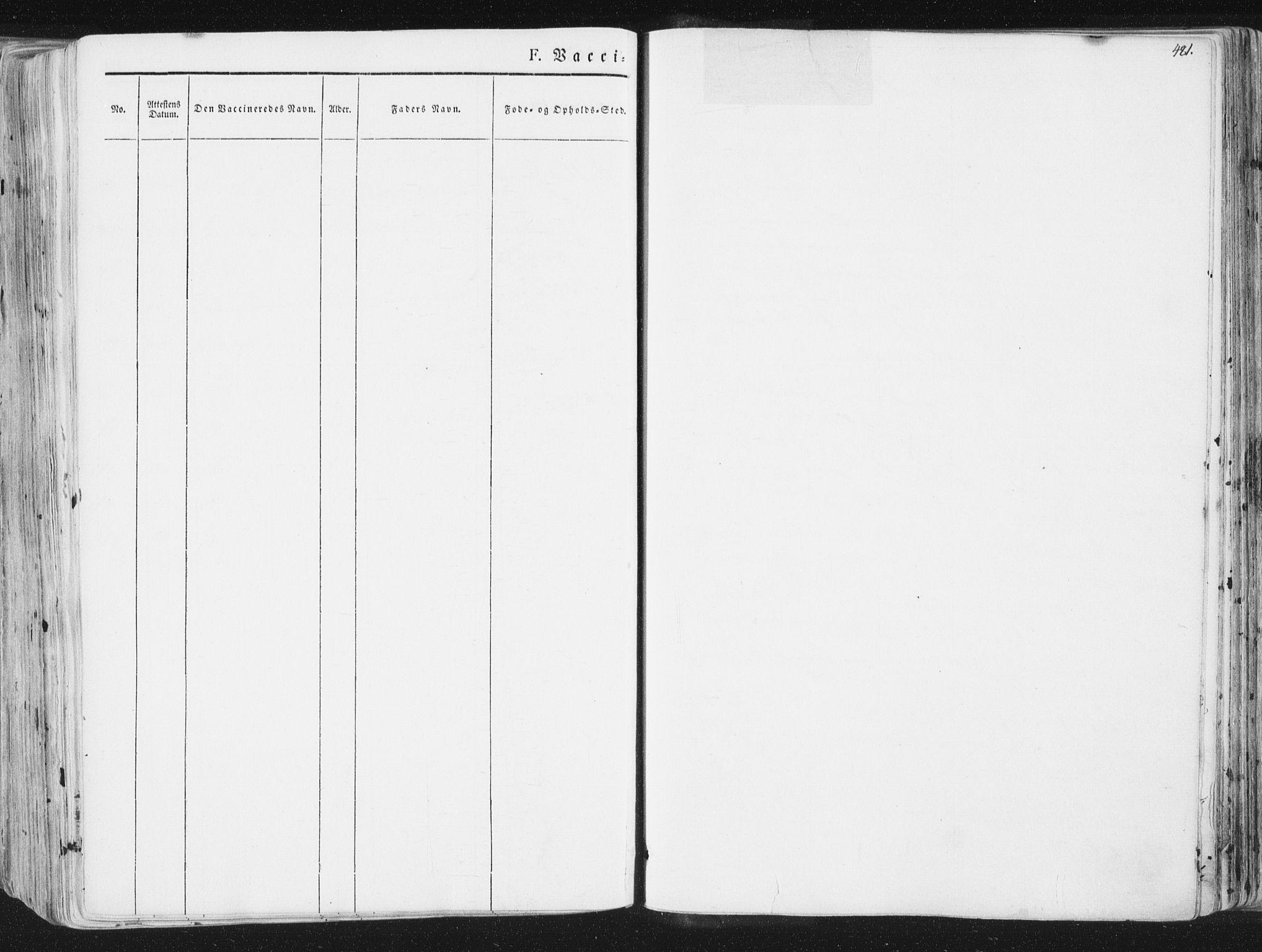 SAT, Ministerialprotokoller, klokkerbøker og fødselsregistre - Sør-Trøndelag, 691/L1074: Ministerialbok nr. 691A06, 1842-1852, s. 481