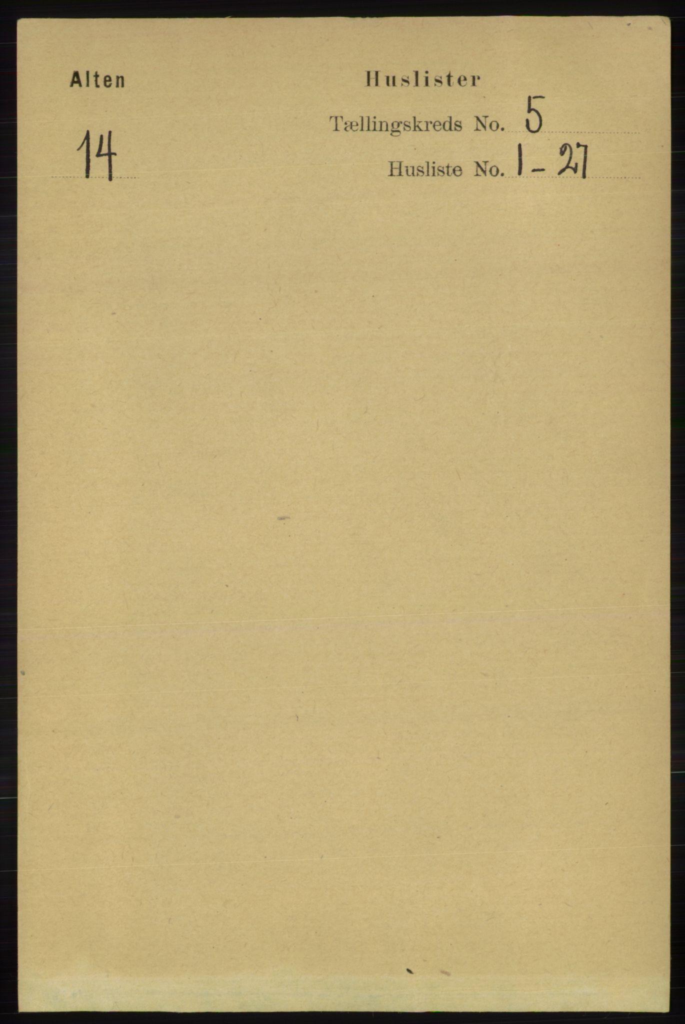 RA, Folketelling 1891 for 2012 Alta herred, 1891, s. 1620