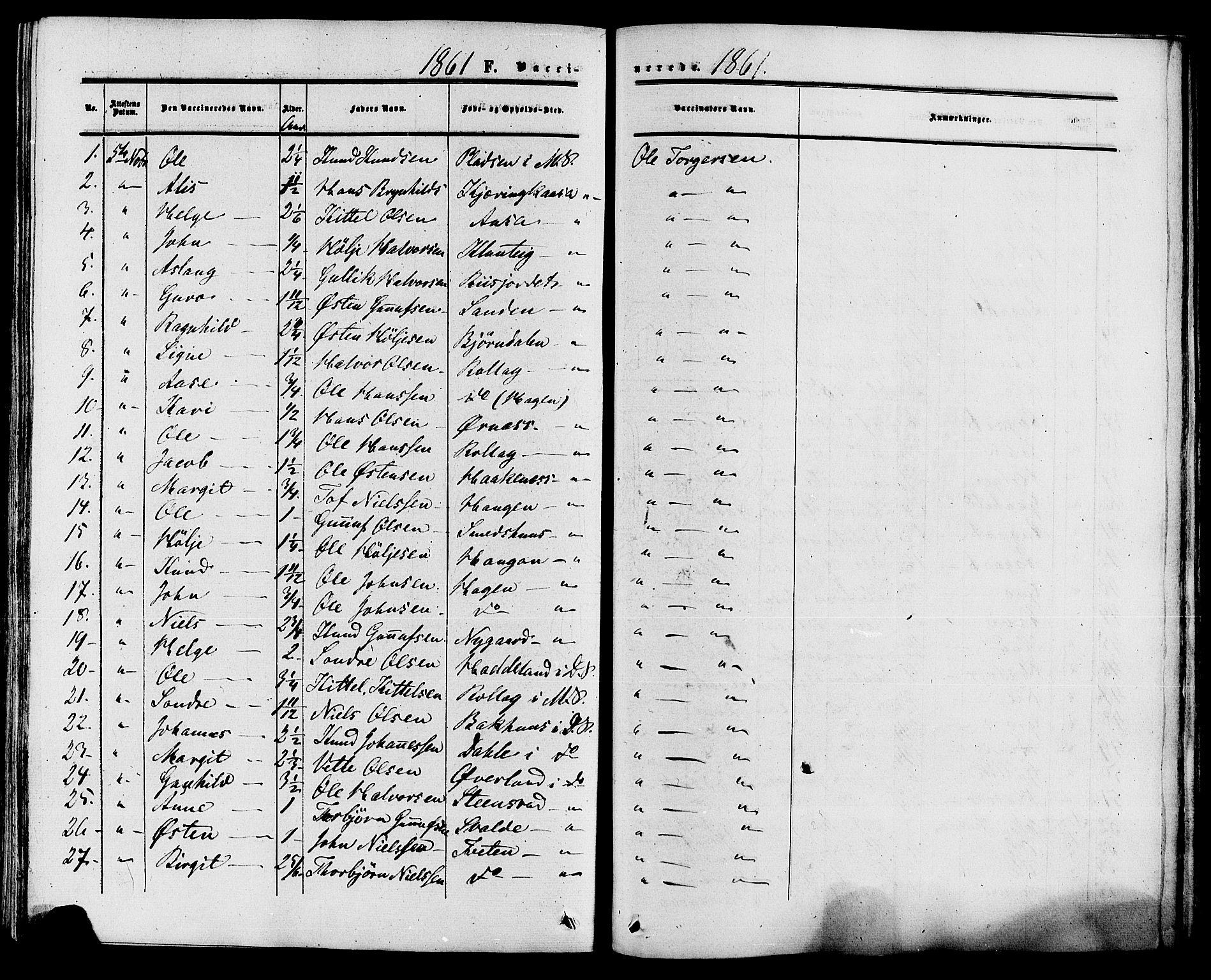 SAKO, Tinn kirkebøker, F/Fa/L0006: Ministerialbok nr. I 6, 1857-1878, s. 413