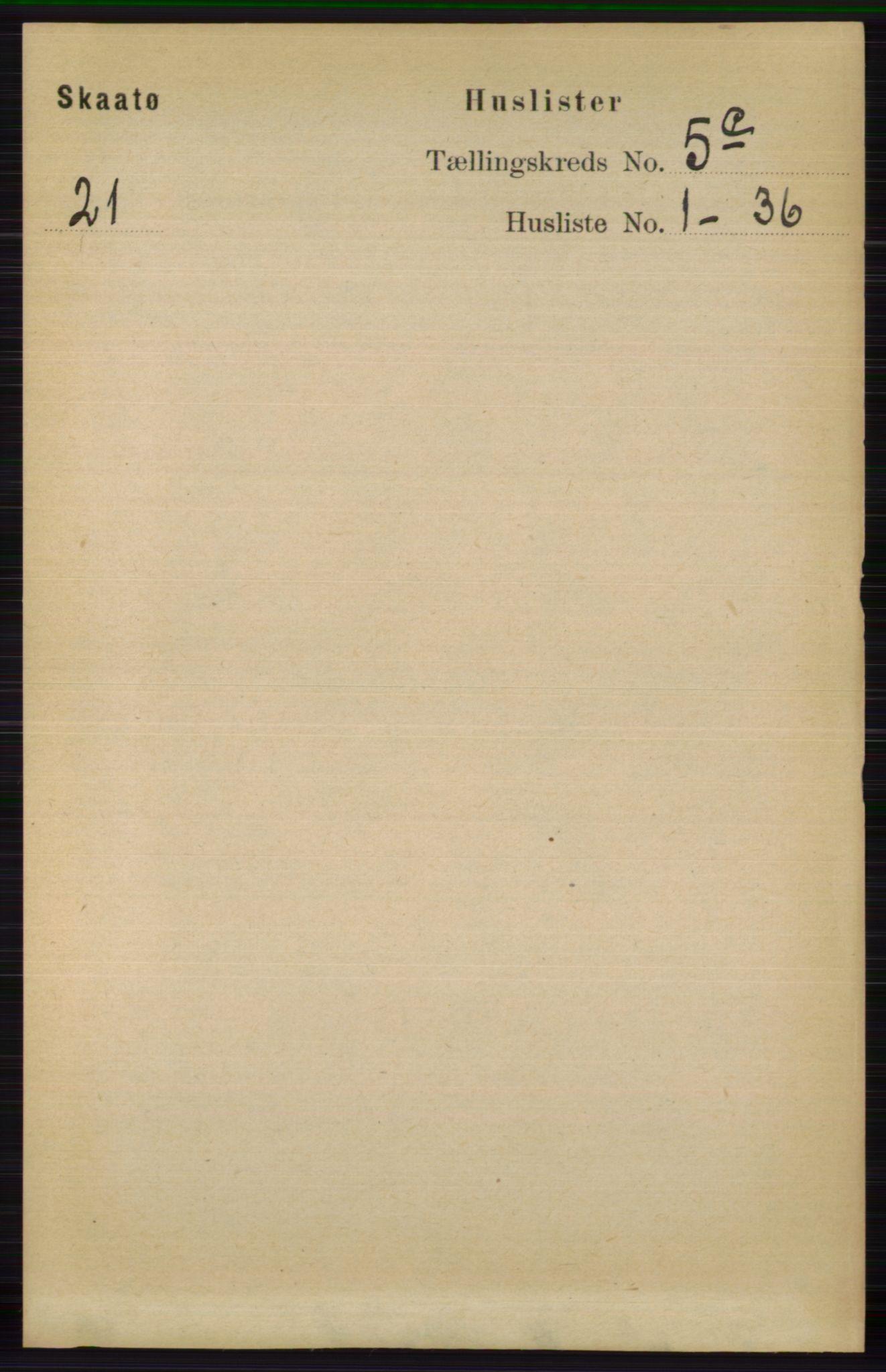 RA, Folketelling 1891 for 0815 Skåtøy herred, 1891, s. 2635