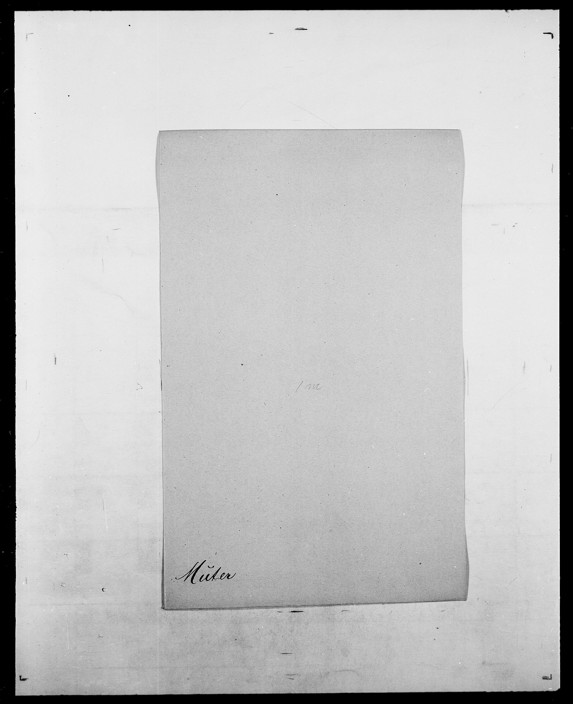 SAO, Delgobe, Charles Antoine - samling, D/Da/L0027: Morath - v. Møsting, s. 286
