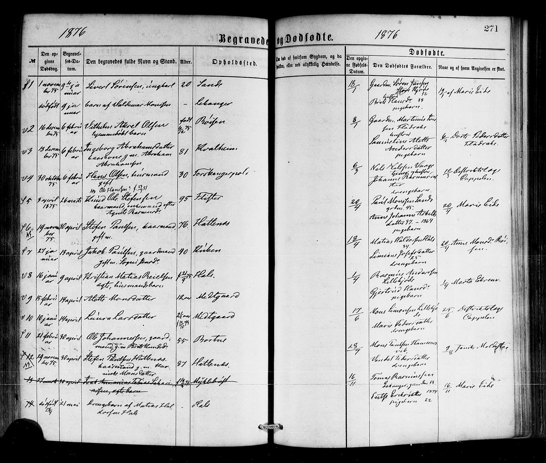 SAB, Selje sokneprestembete*, Ministerialbok nr. A 12, 1870-1880, s. 271
