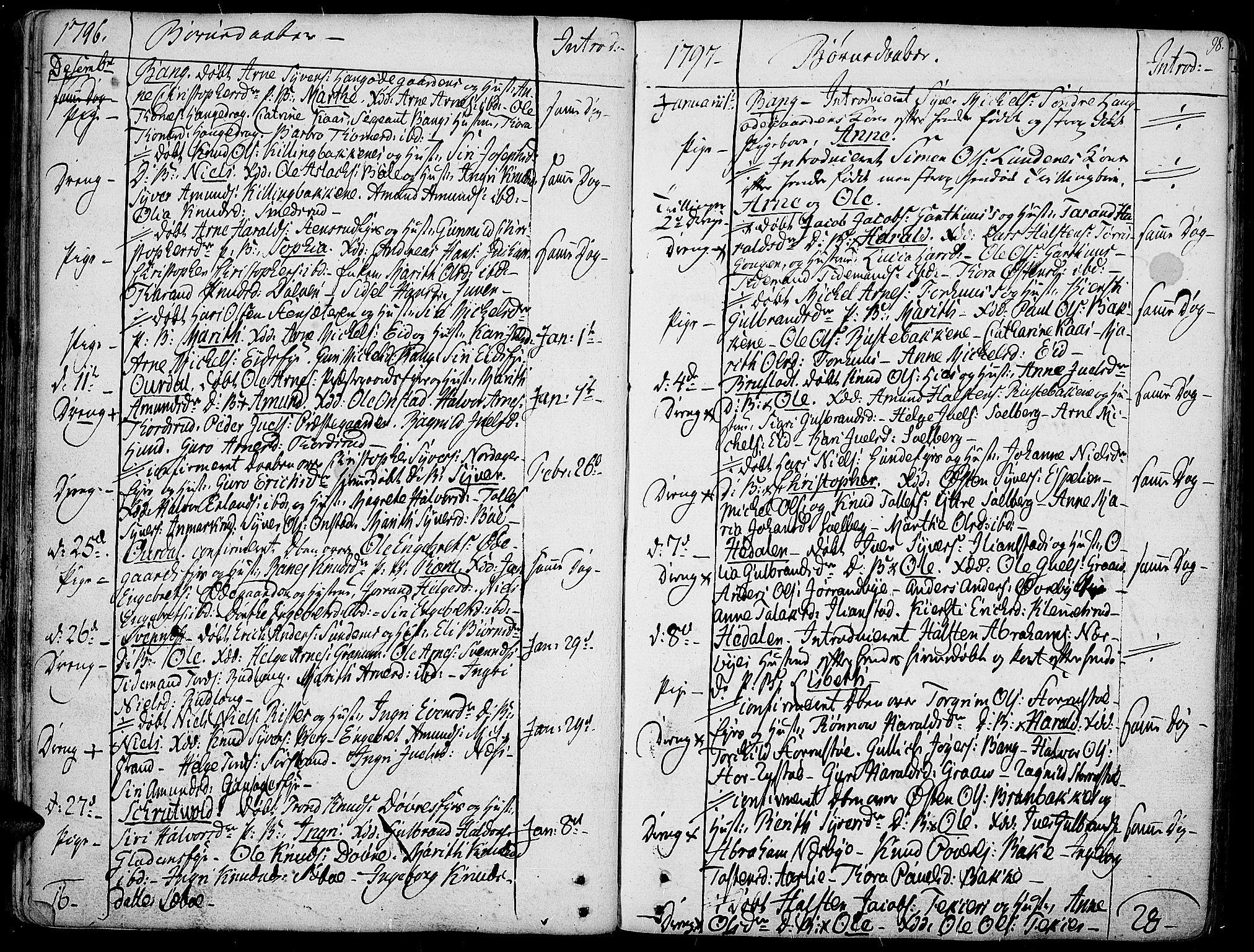 SAH, Aurdal prestekontor, Ministerialbok nr. 6, 1781-1804, s. 98