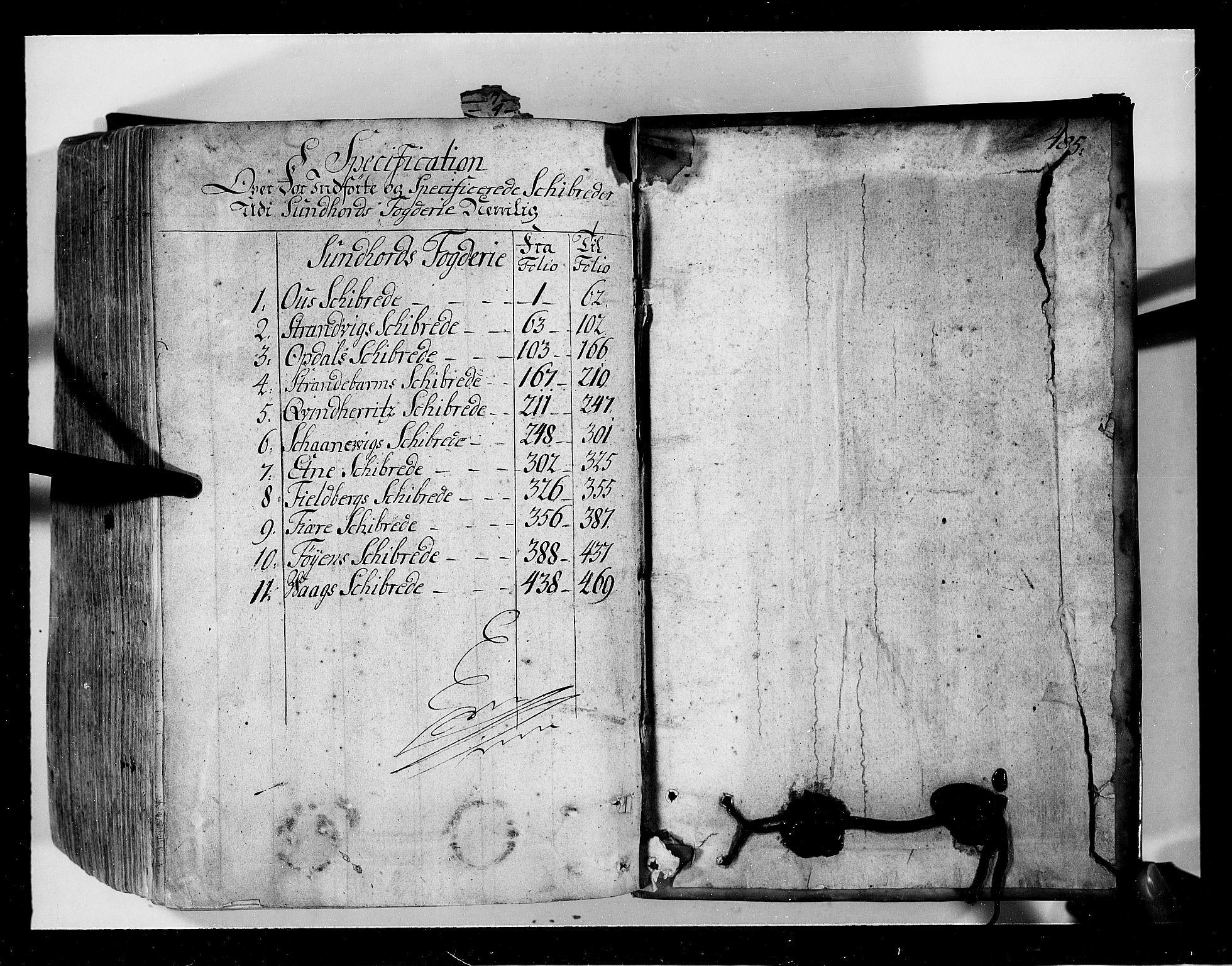 RA, Rentekammeret inntil 1814, Realistisk ordnet avdeling, N/Nb/Nbf/L0134: Sunnhordland eksaminasjonsprotokoll, 1723, s. 484b-485a