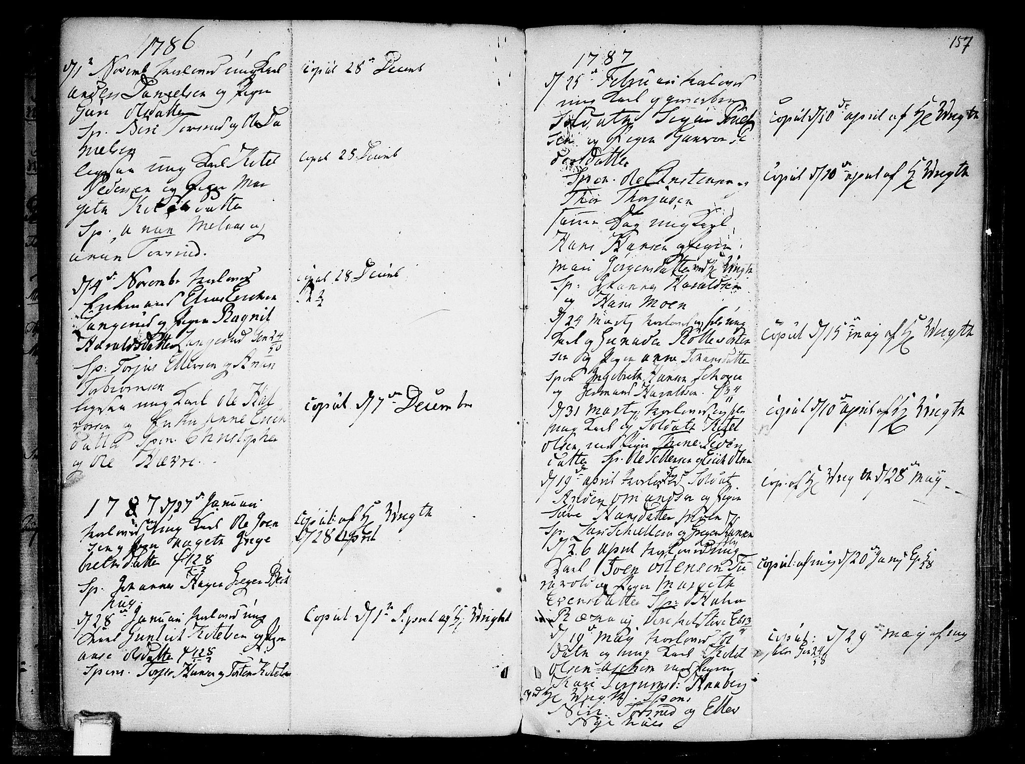 SAKO, Heddal kirkebøker, F/Fa/L0004: Ministerialbok nr. I 4, 1784-1814, s. 157