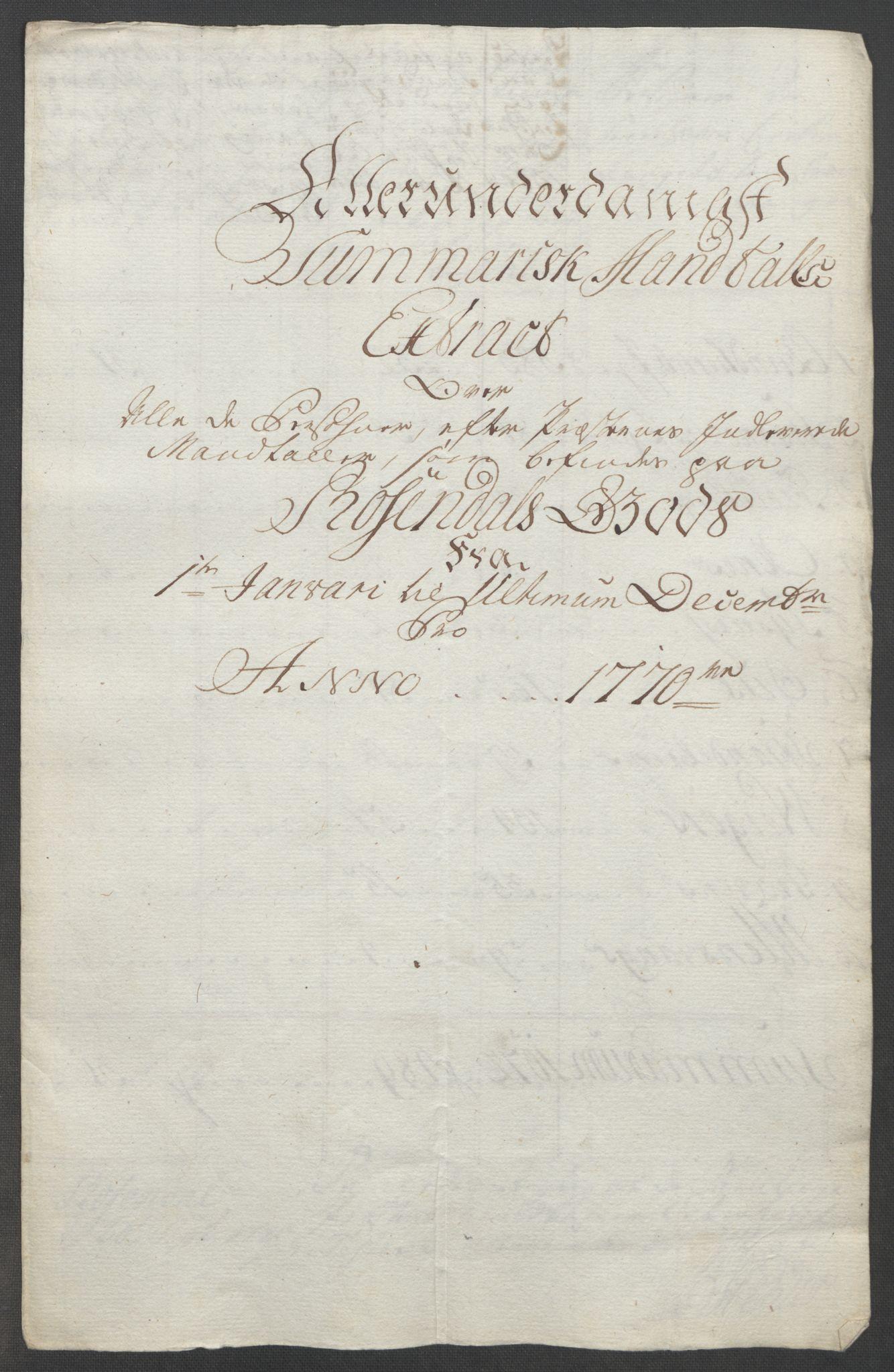 RA, Rentekammeret inntil 1814, Reviderte regnskaper, Fogderegnskap, R49/L3157: Ekstraskatten Rosendal Baroni, 1762-1772, s. 289