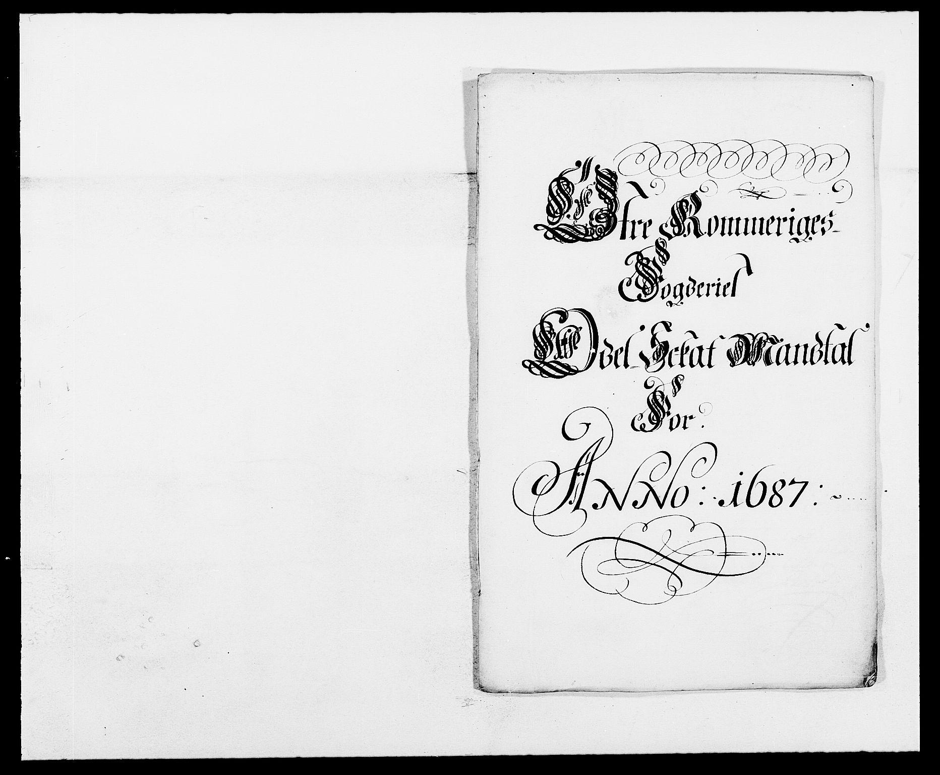 RA, Rentekammeret inntil 1814, Reviderte regnskaper, Fogderegnskap, R12/L0700: Fogderegnskap Øvre Romerike, 1687-1688, s. 132