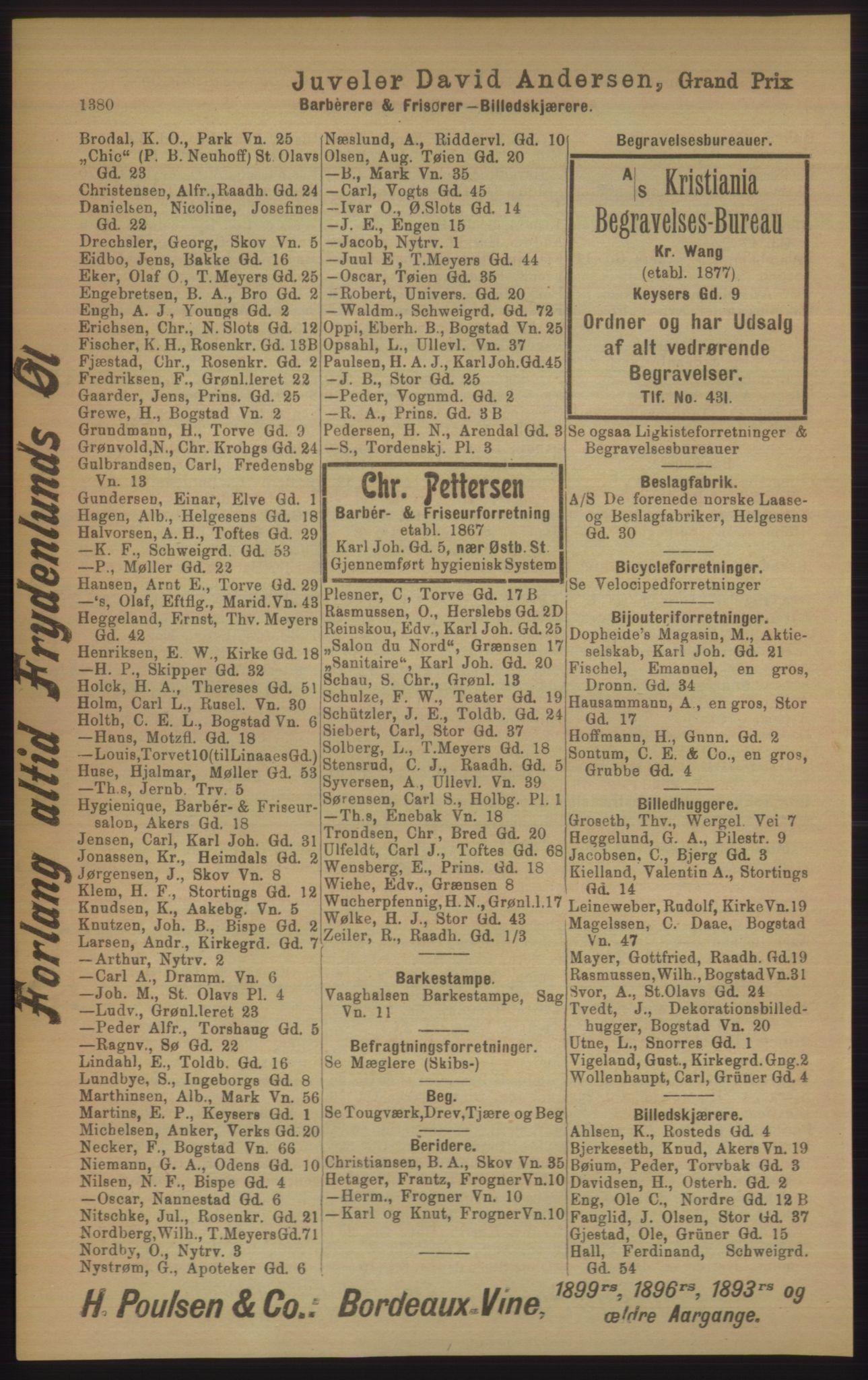 PUBL, Kristiania/Oslo adressebok, 1906, s. 1380