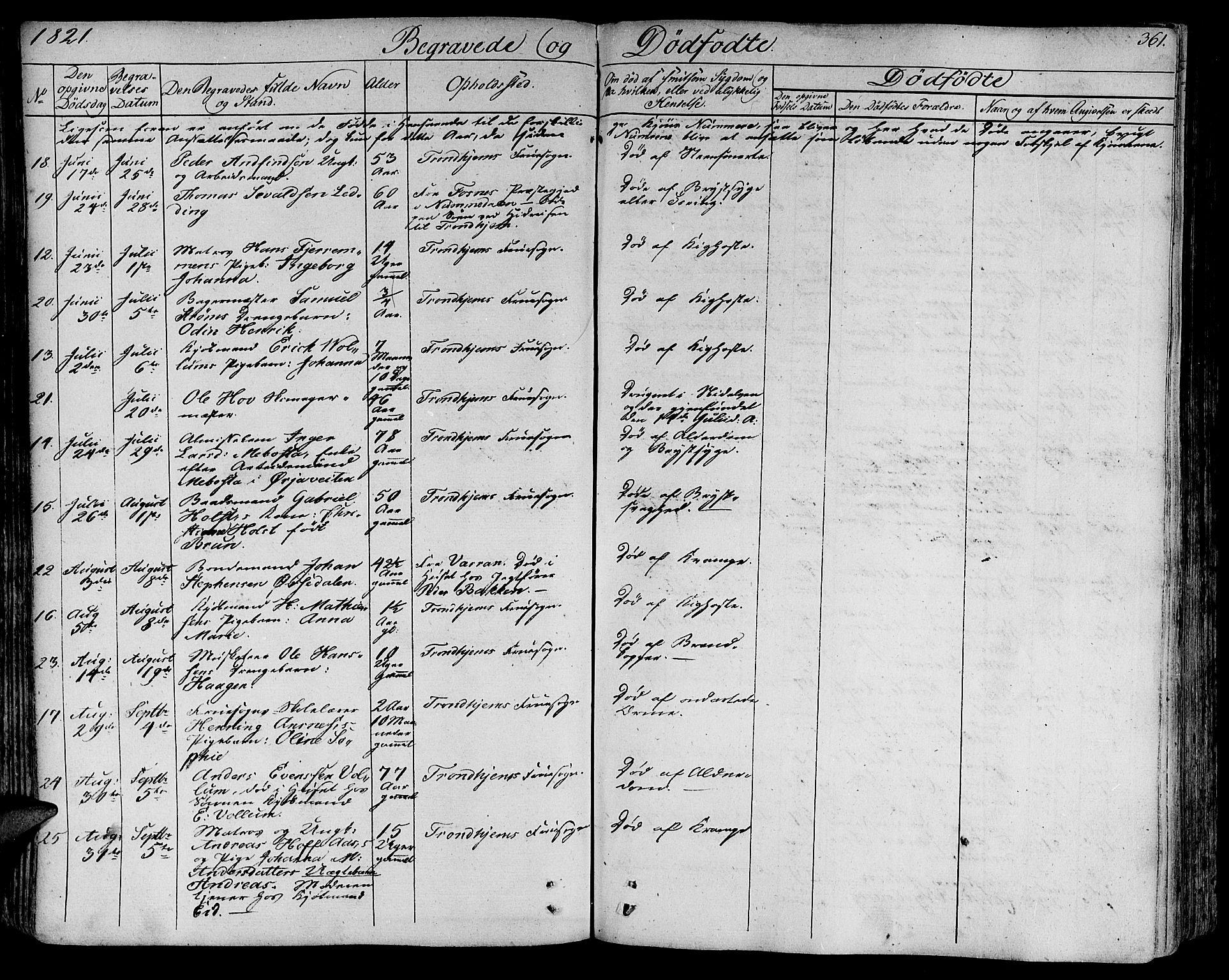 SAT, Ministerialprotokoller, klokkerbøker og fødselsregistre - Sør-Trøndelag, 602/L0109: Ministerialbok nr. 602A07, 1821-1840, s. 361