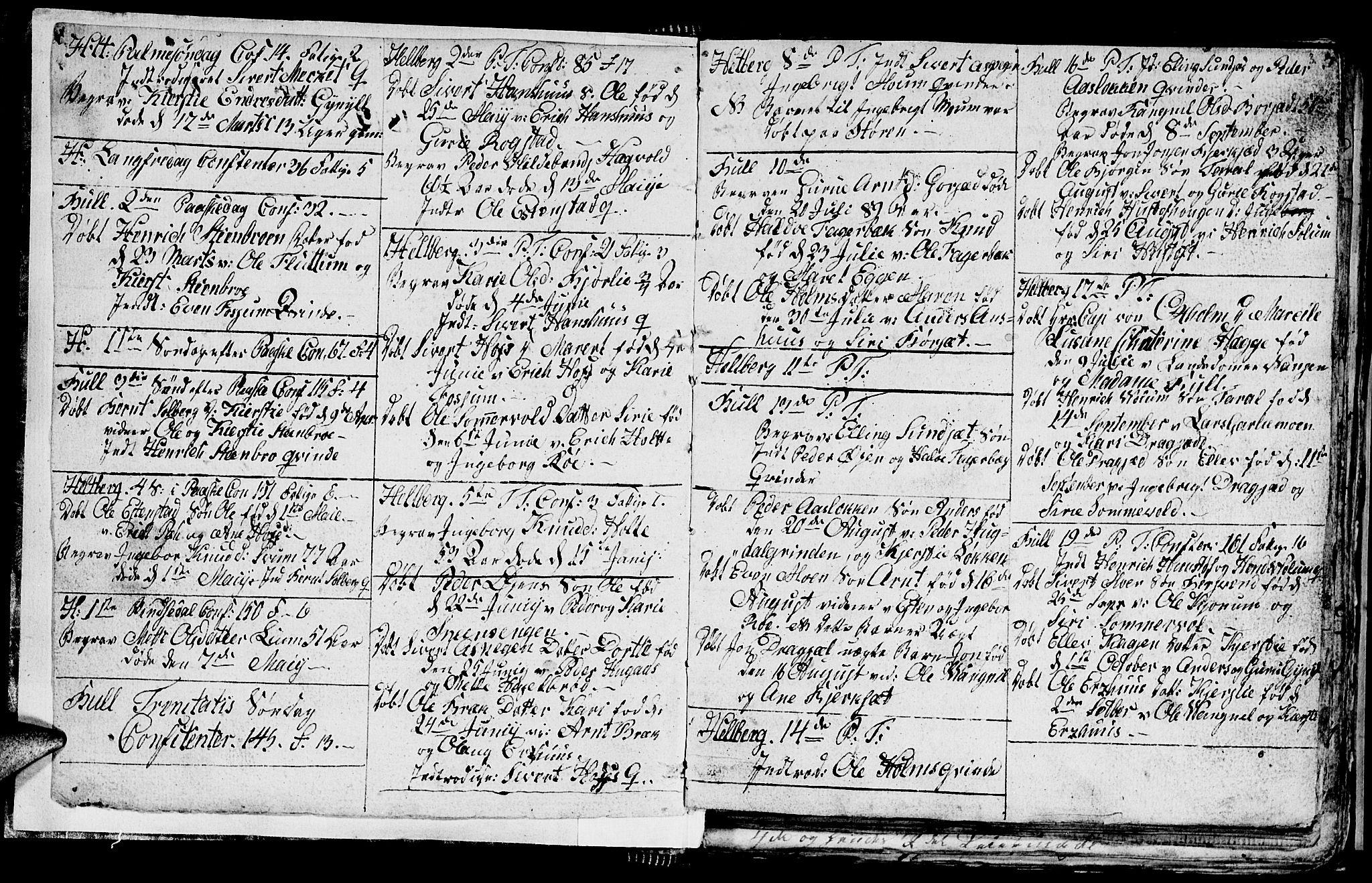 SAT, Ministerialprotokoller, klokkerbøker og fødselsregistre - Sør-Trøndelag, 689/L1042: Klokkerbok nr. 689C01, 1812-1841, s. 2-3