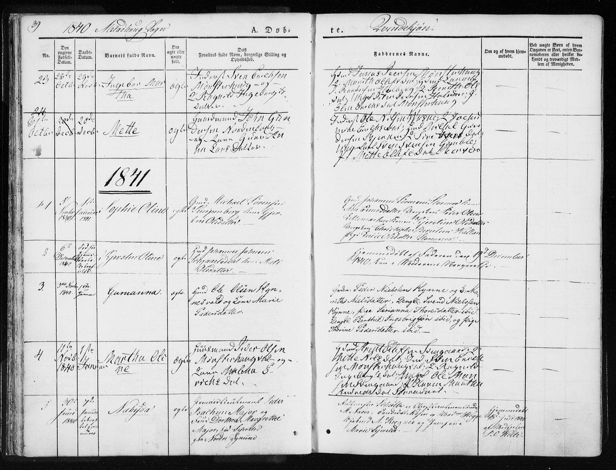 SAT, Ministerialprotokoller, klokkerbøker og fødselsregistre - Nord-Trøndelag, 717/L0154: Ministerialbok nr. 717A06 /1, 1836-1849, s. 39