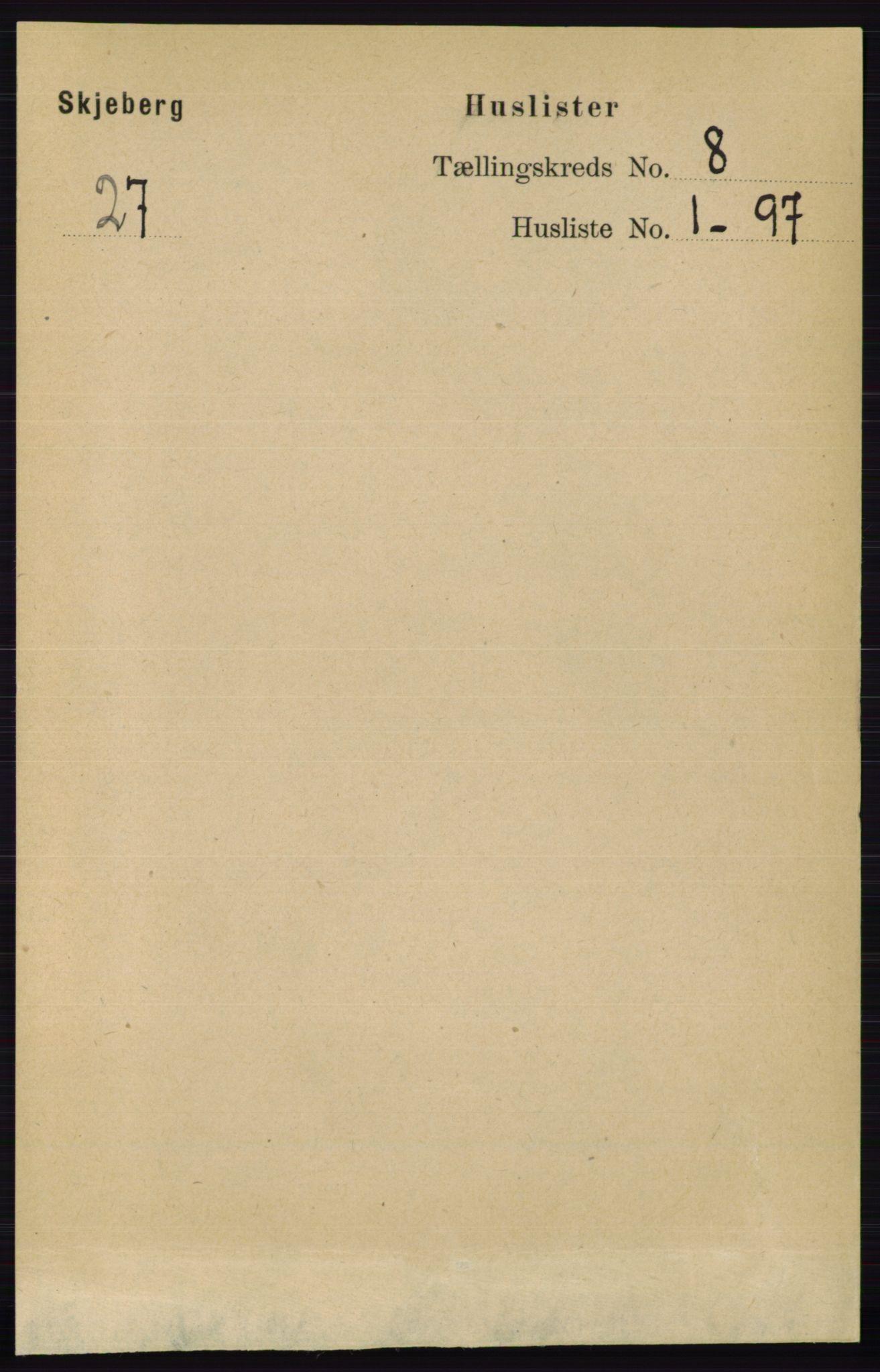 RA, Folketelling 1891 for 0115 Skjeberg herred, 1891, s. 3869