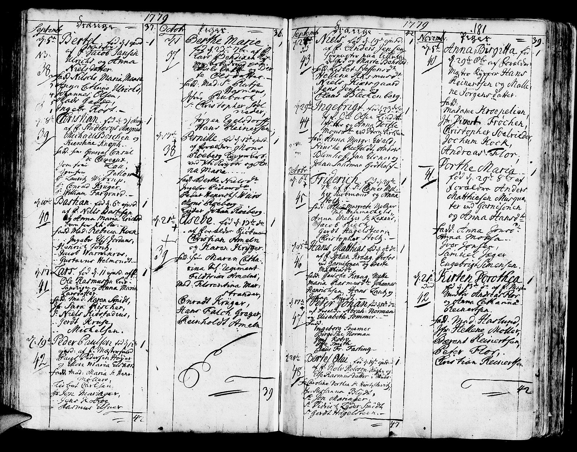 SAB, Korskirken Sokneprestembete, H/Haa/L0005: Ministerialbok nr. A 5, 1751-1789, s. 181