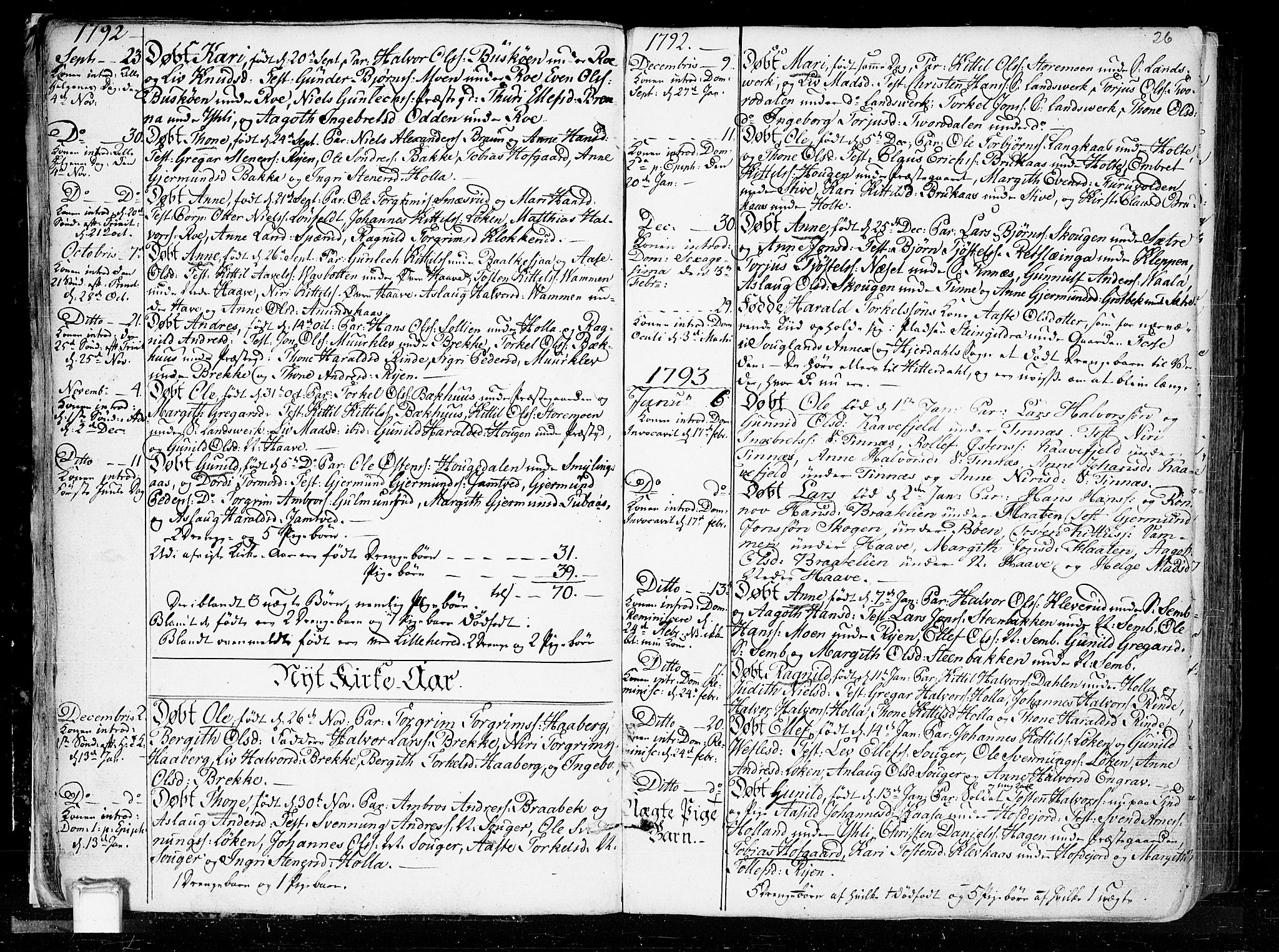 SAKO, Heddal kirkebøker, F/Fa/L0004: Ministerialbok nr. I 4, 1784-1814, s. 26