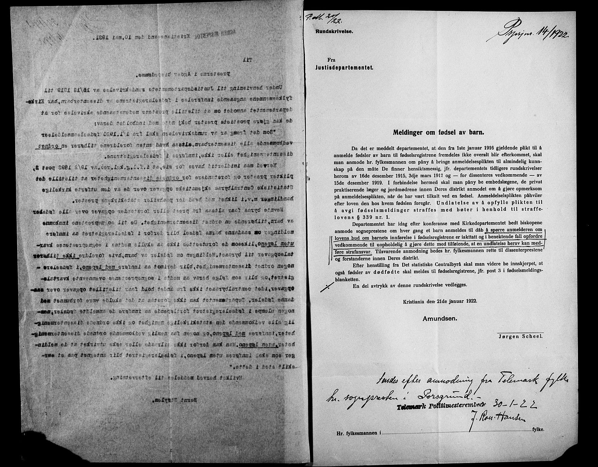 SAKO, Porsgrunn kirkebøker , J/Ja/L0001: Fødselsregister nr. 1, 1916-1929