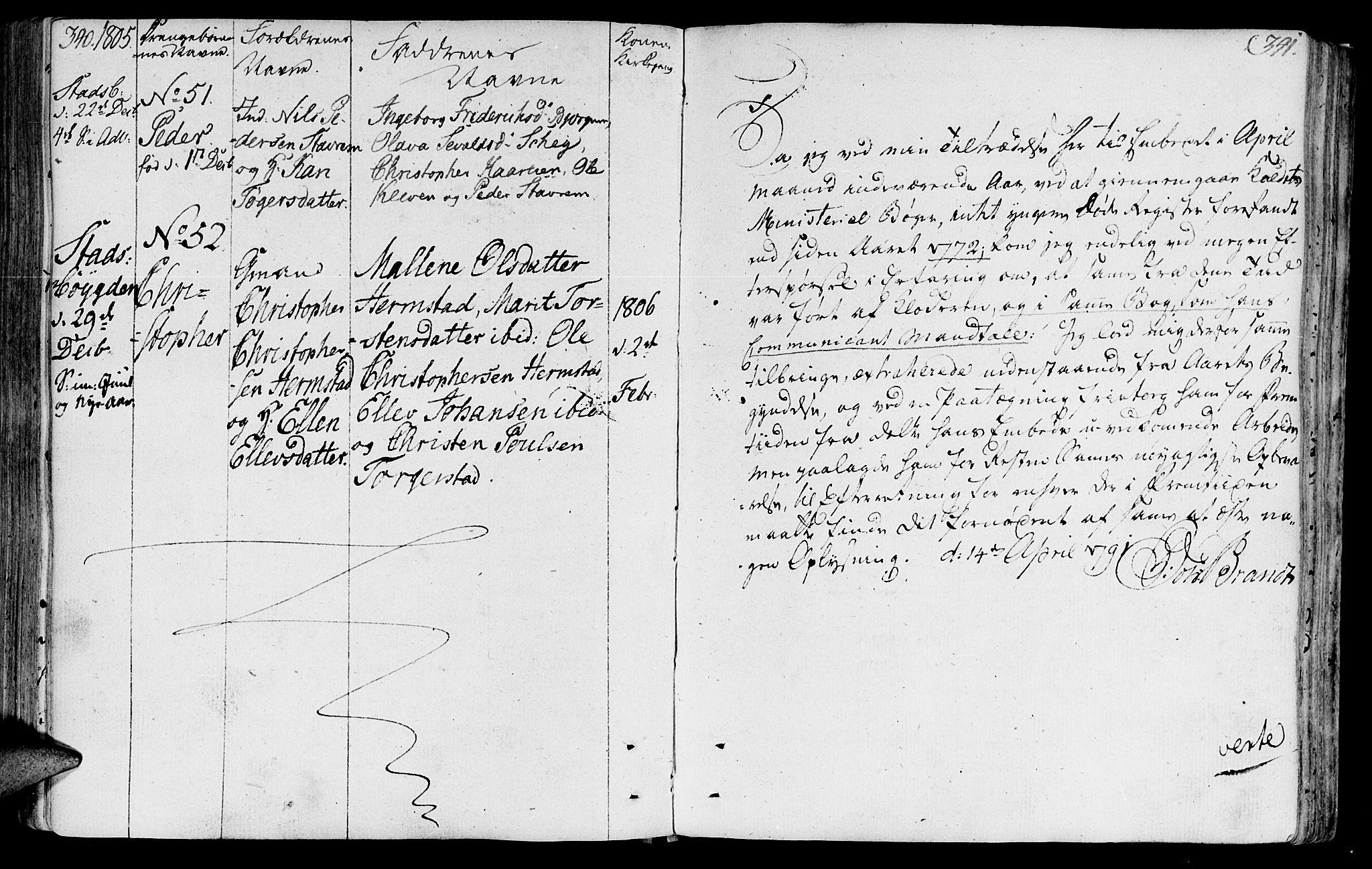 SAT, Ministerialprotokoller, klokkerbøker og fødselsregistre - Sør-Trøndelag, 646/L0606: Ministerialbok nr. 646A04, 1791-1805, s. 340-341