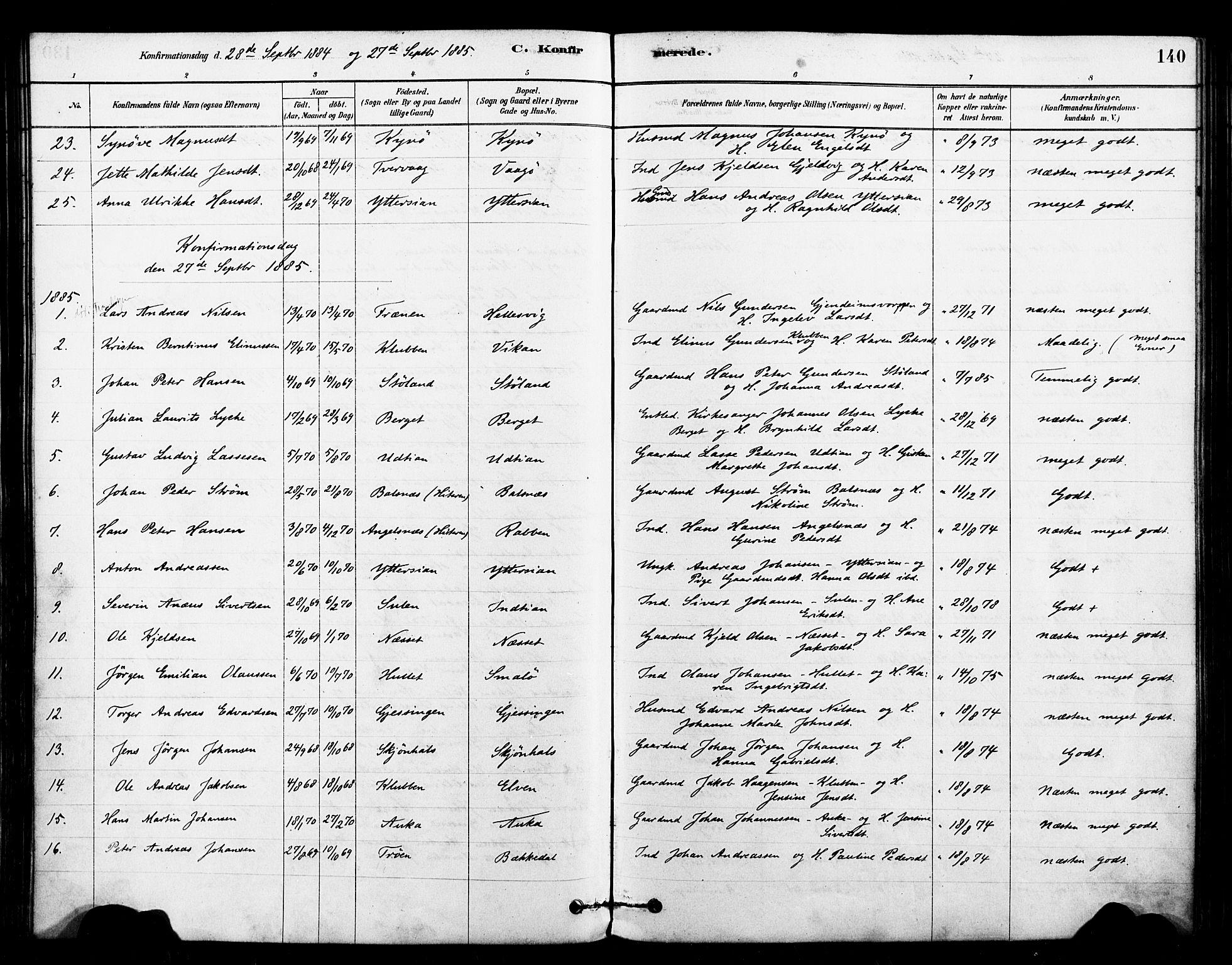SAT, Ministerialprotokoller, klokkerbøker og fødselsregistre - Sør-Trøndelag, 640/L0578: Ministerialbok nr. 640A03, 1879-1889, s. 140