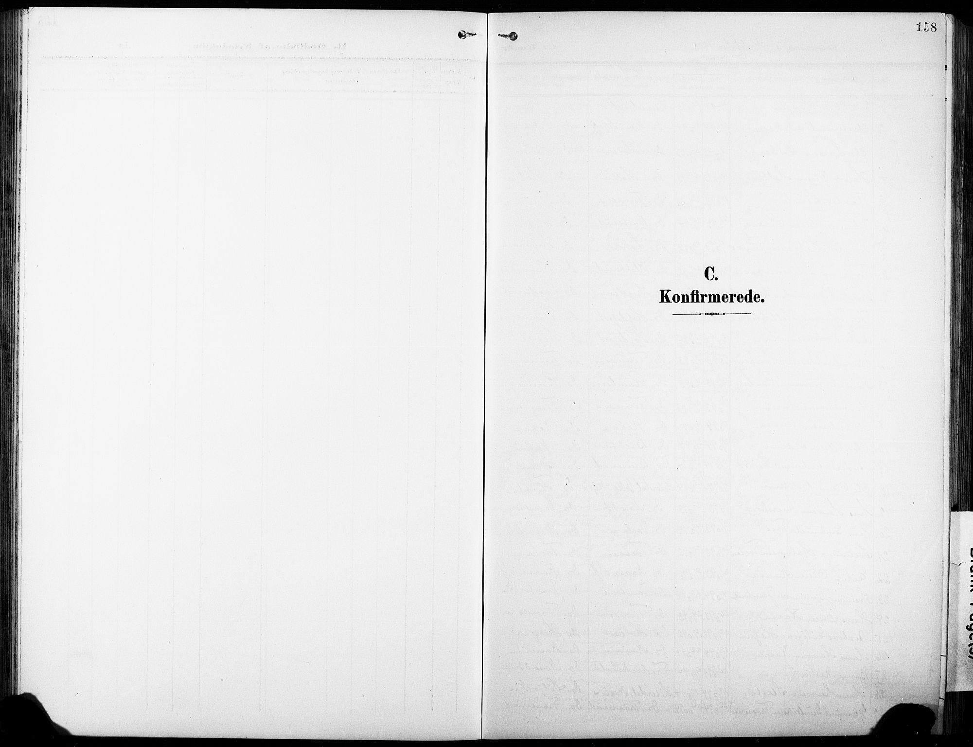 SAKO, Heddal kirkebøker, G/Ga/L0003: Klokkerbok nr. I 3, 1908-1932, s. 158