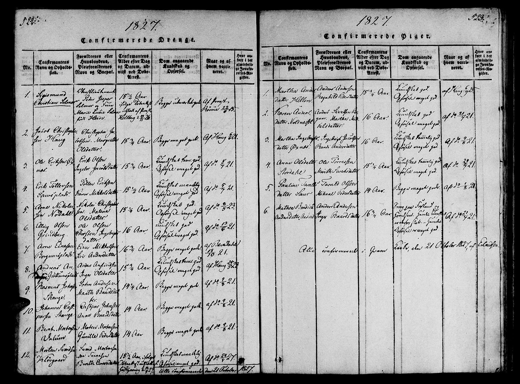 SAT, Ministerialprotokoller, klokkerbøker og fødselsregistre - Nord-Trøndelag, 746/L0441: Ministerialbok nr. 746A03 /2, 1816-1827, s. 522-523