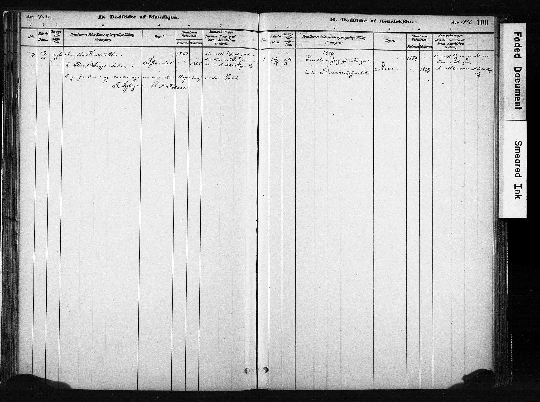 SAH, Vang prestekontor, Valdres, Ministerialbok nr. 8, 1882-1910, s. 100