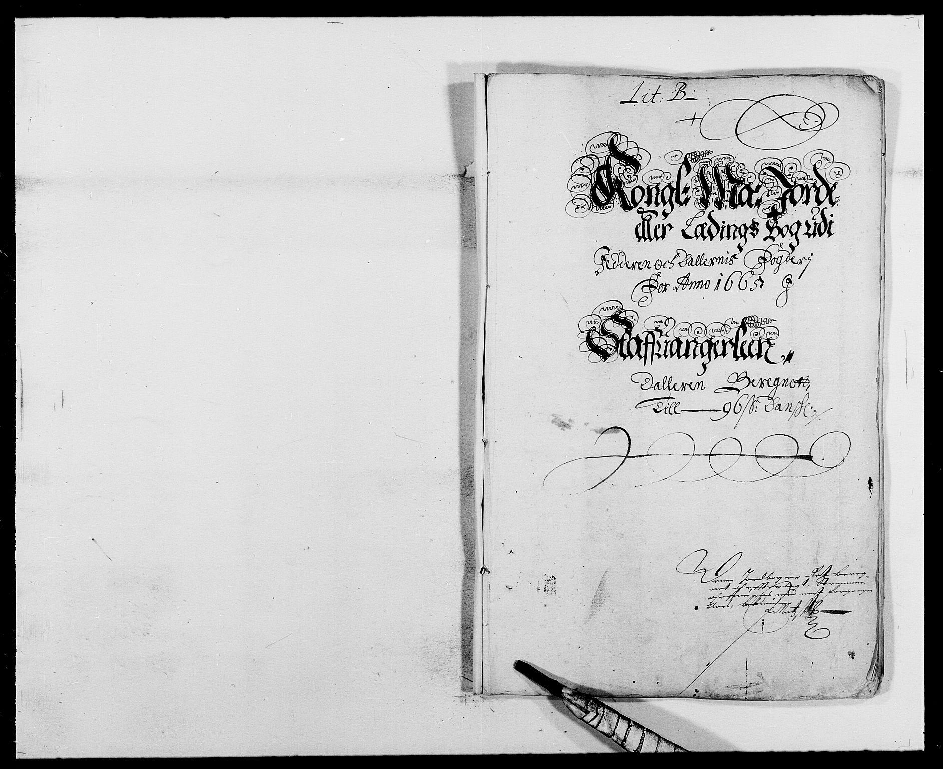 RA, Rentekammeret inntil 1814, Reviderte regnskaper, Fogderegnskap, R46/L2709: Fogderegnskap Jæren og Dalane, 1665-1667, s. 19