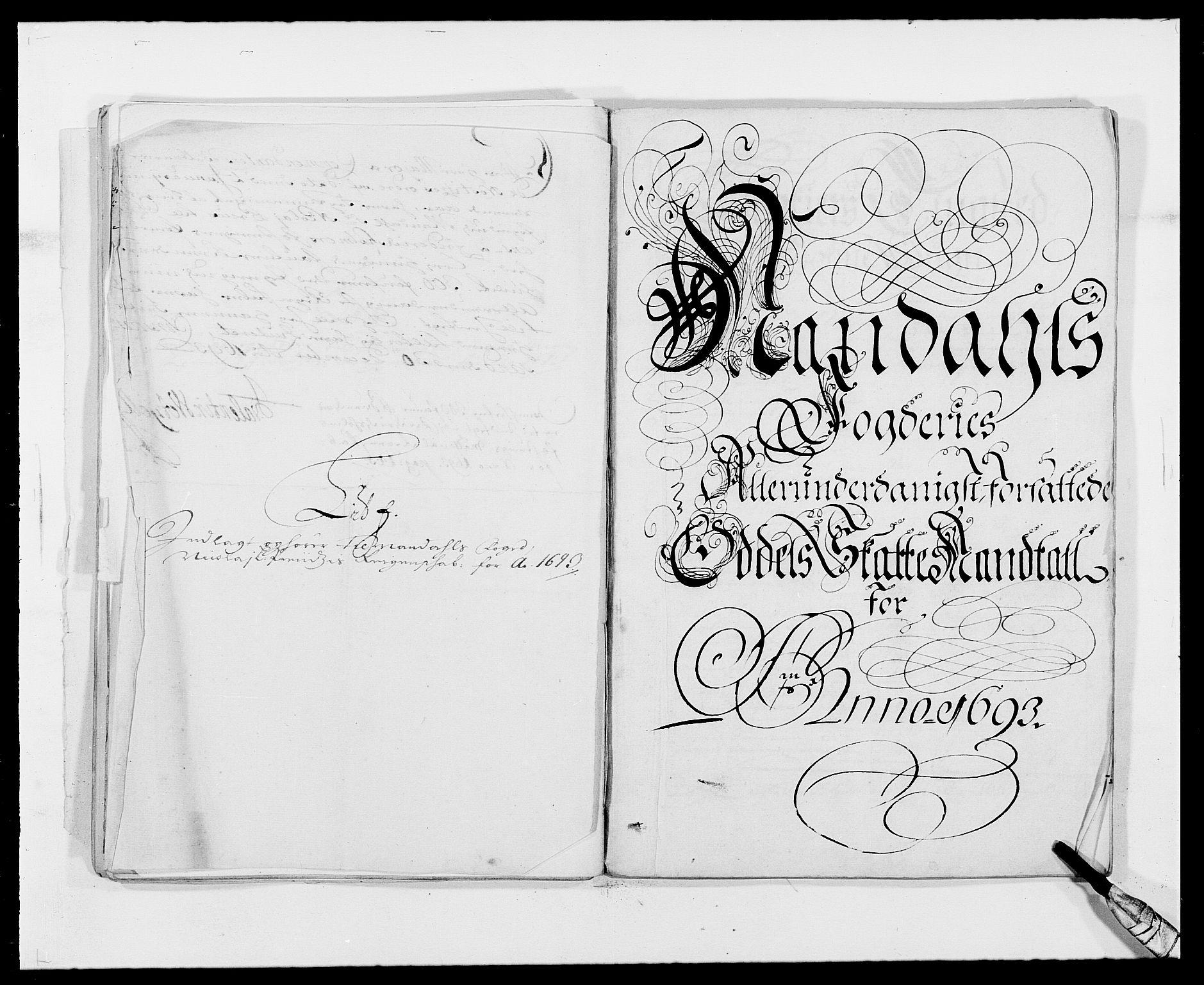 RA, Rentekammeret inntil 1814, Reviderte regnskaper, Fogderegnskap, R42/L2544: Mandal fogderi, 1692-1693, s. 227