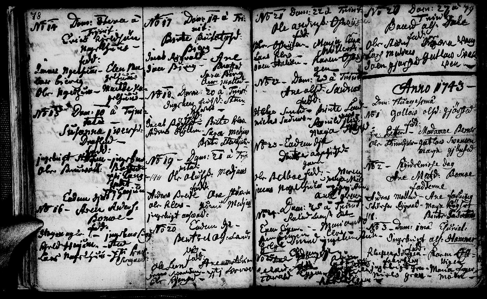 SAT, Ministerialprotokoller, klokkerbøker og fødselsregistre - Nord-Trøndelag, 749/L0467: Ministerialbok nr. 749A01, 1733-1787, s. 78-79
