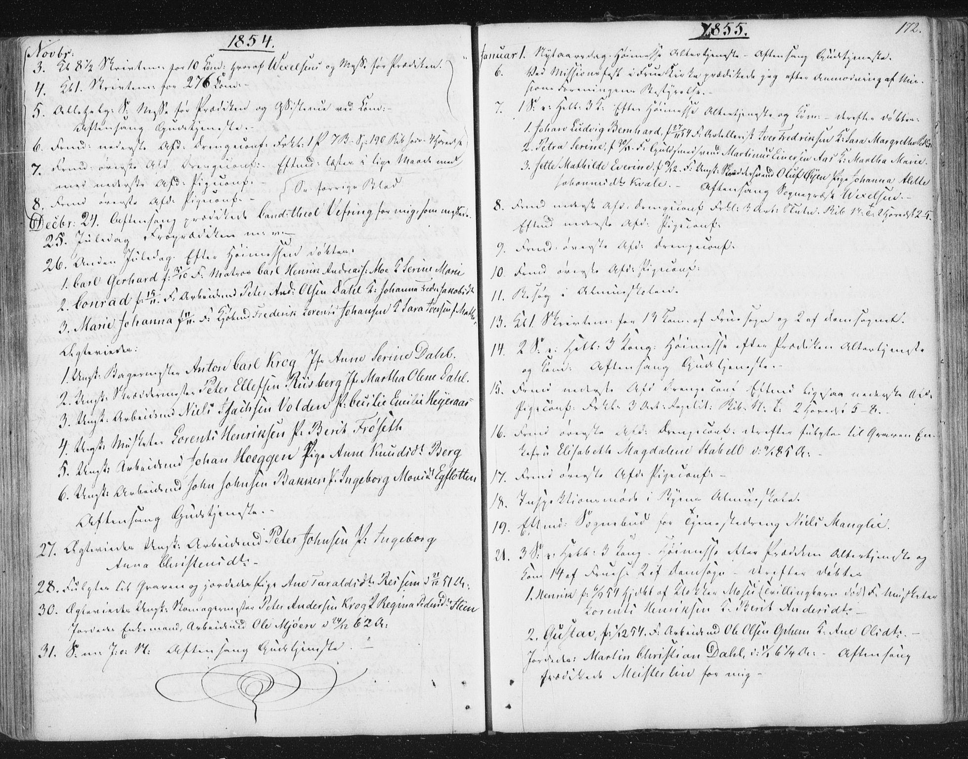 SAT, Ministerialprotokoller, klokkerbøker og fødselsregistre - Sør-Trøndelag, 602/L0127: Residerende kapellans bok nr. 602B01, 1821-1875, s. 172